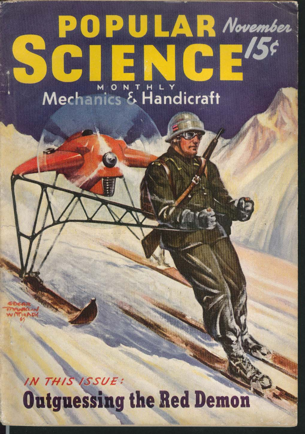 POPULAR SCIENCE Antarctic American Territory Model-Plane Champions 11 1939