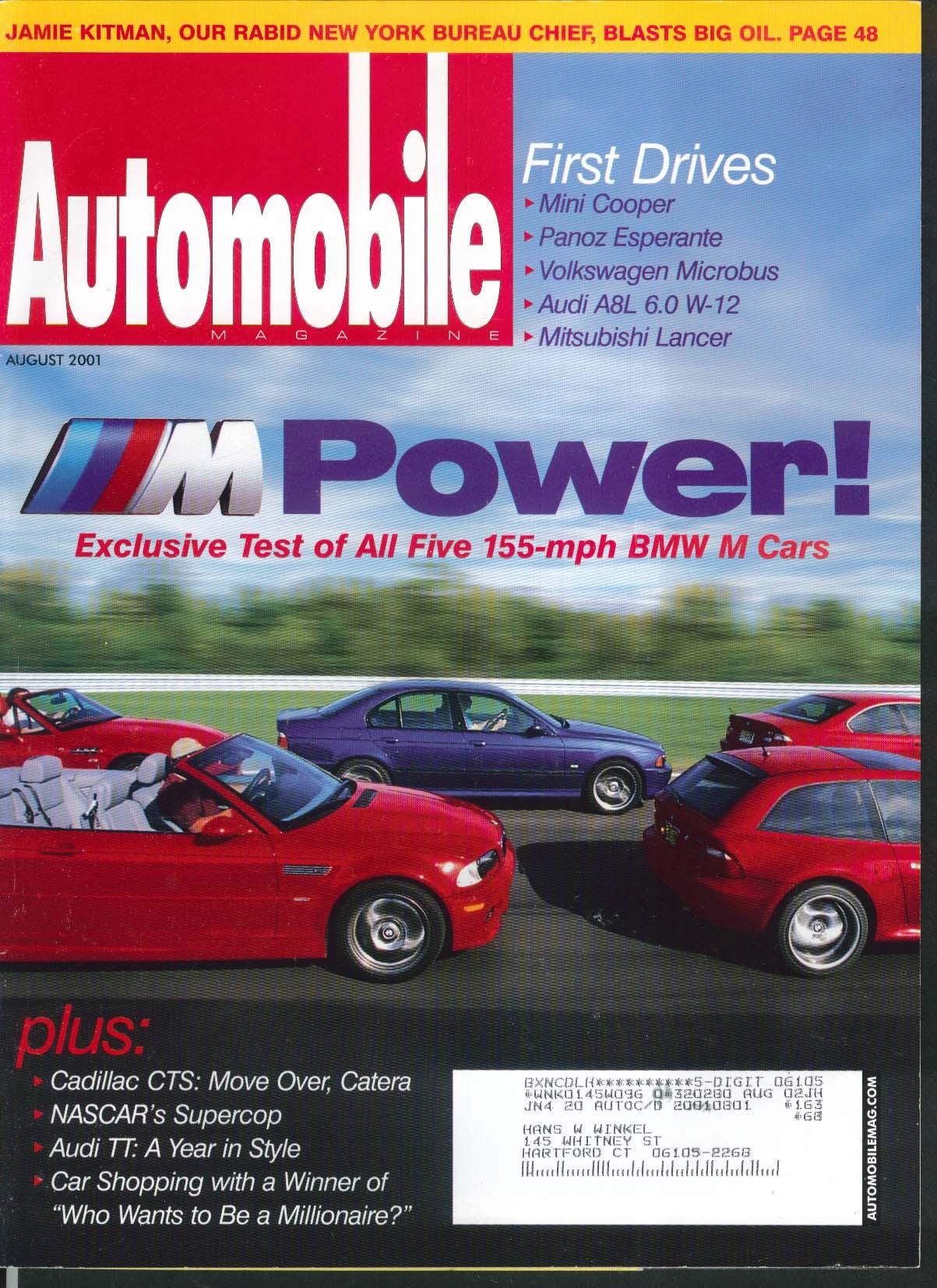 AUTOMOBILE BMW M cars Mini Cooper Volkswagen Micorbus Audi A8L Mitsubishi 8 2001