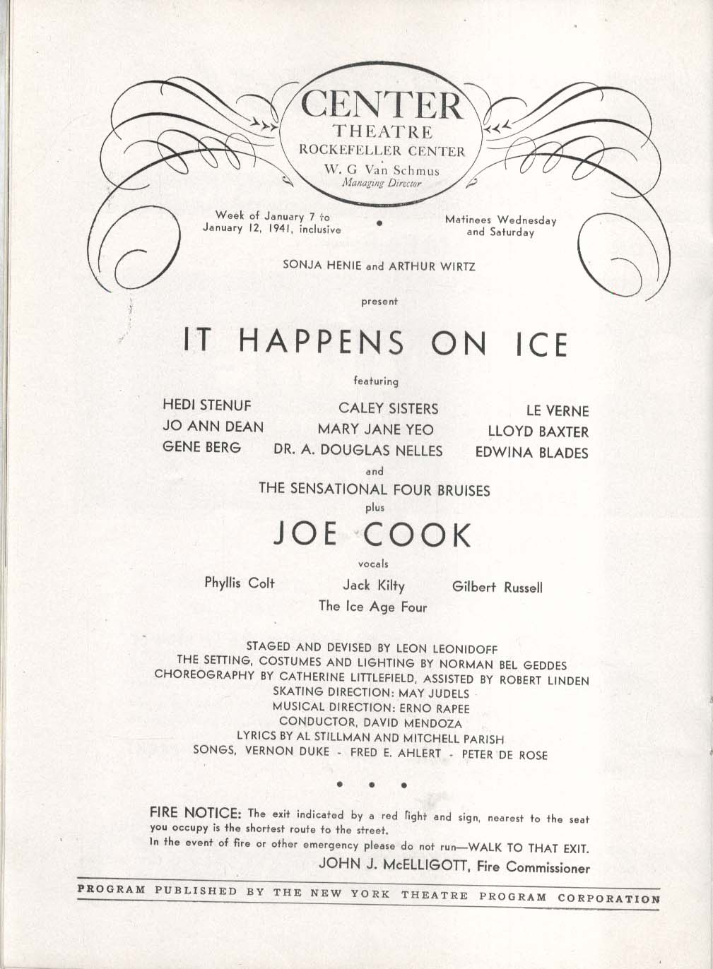 It Happens on Ice Rockefeller Center Theatre program Sonja Henie 1941