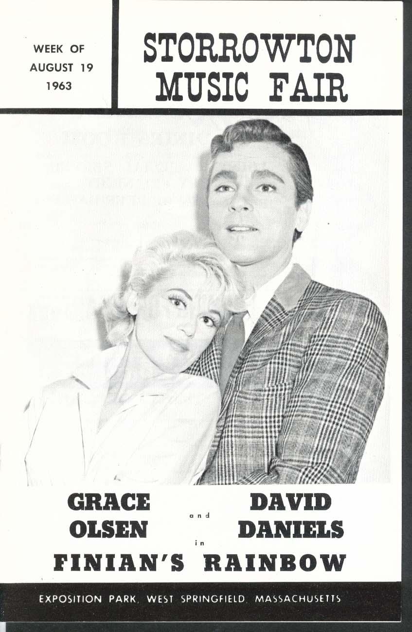 Finian's Rainbow program Storrowton Music Fair 8/19 1963 Grace Olsen