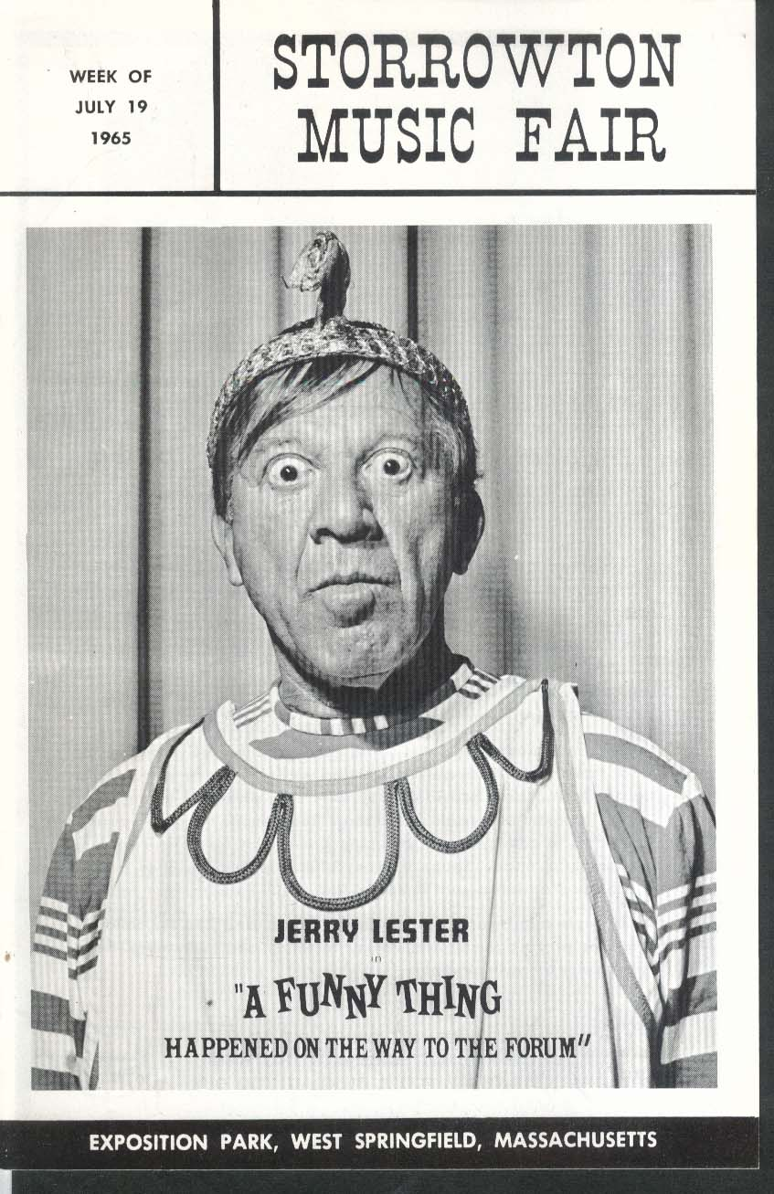 Jerry Lester Funny Thing Forum program Storrowton Music Fair 7/19 1965