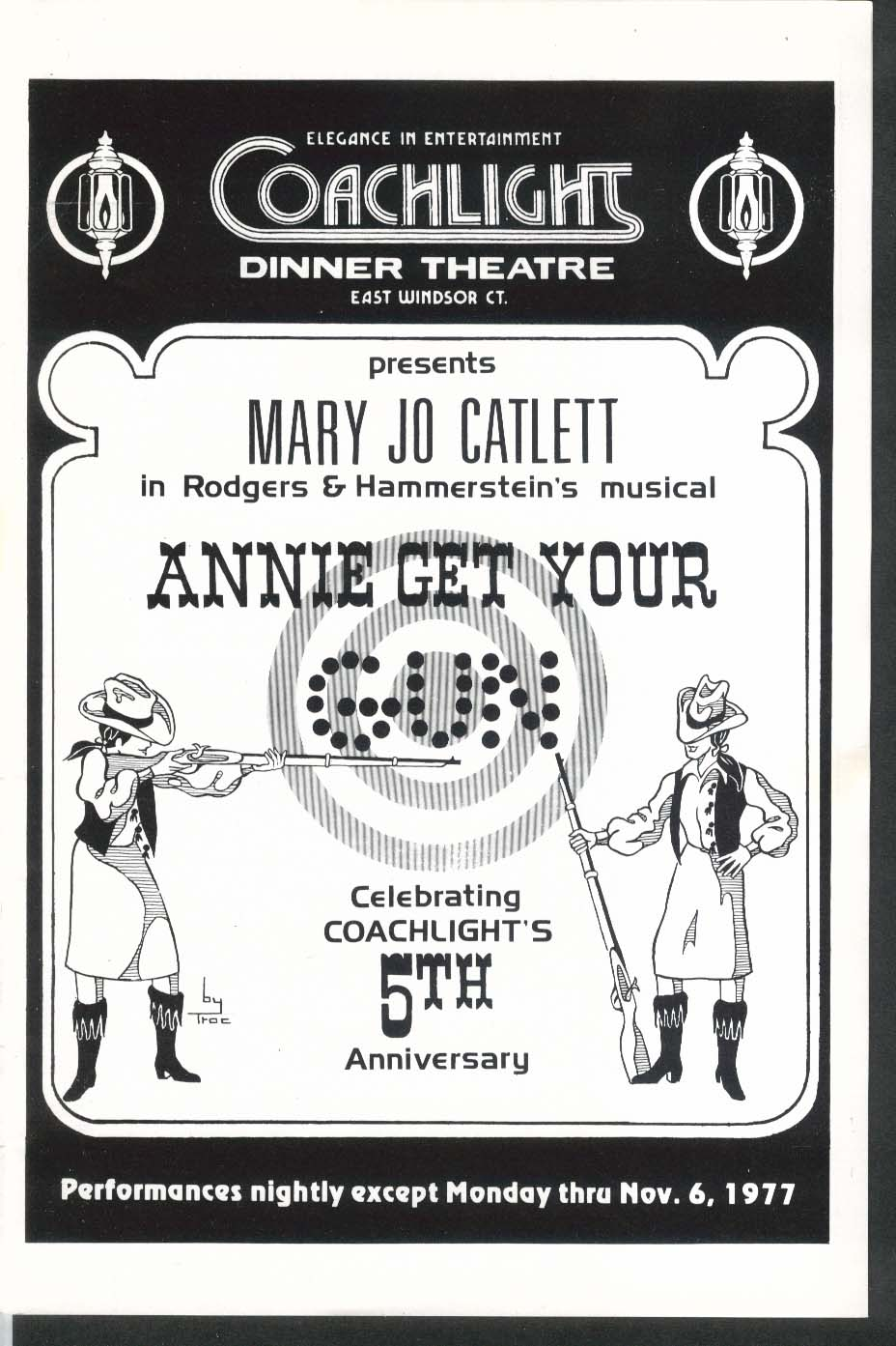 Annie Get Your Gun Coachlight Theatre program Windsor CT 1977 Mary Jo Catlett