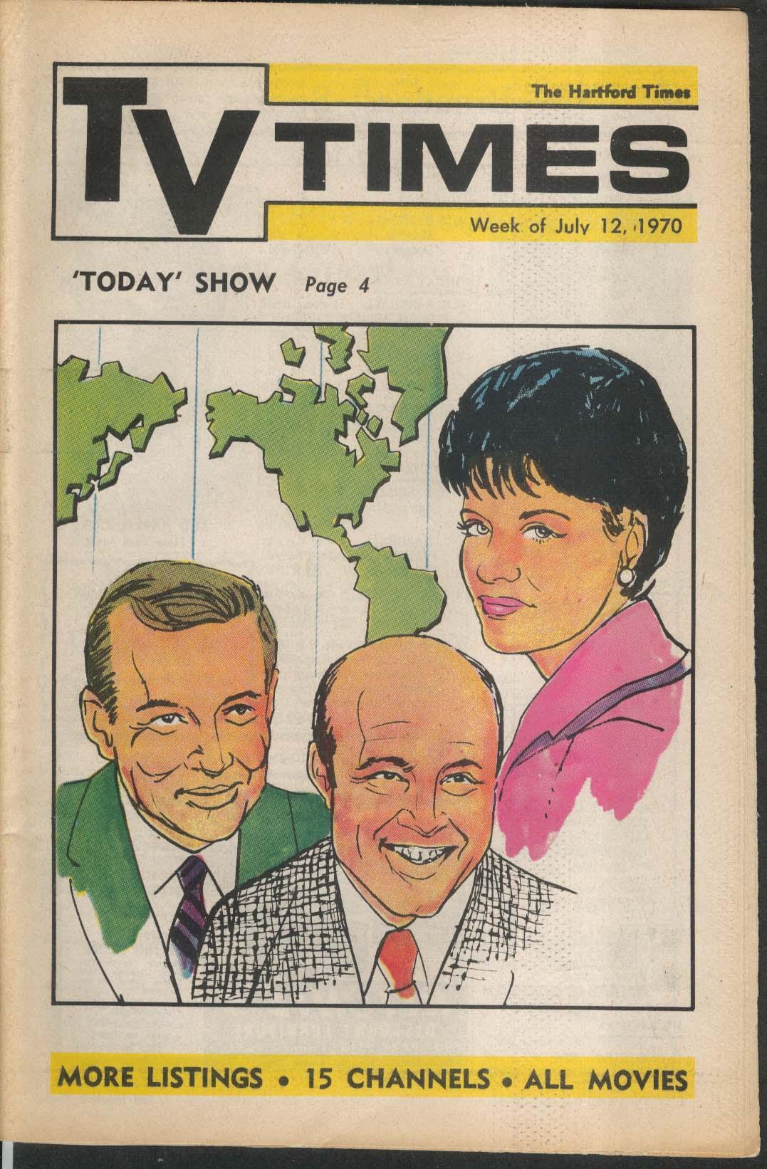 TV TIMES Dean Rusk 7/12 1970 Hartford Times