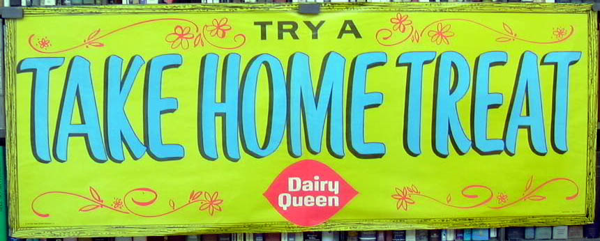 Dairy Queen Try a Take Home Treat store poster 1961