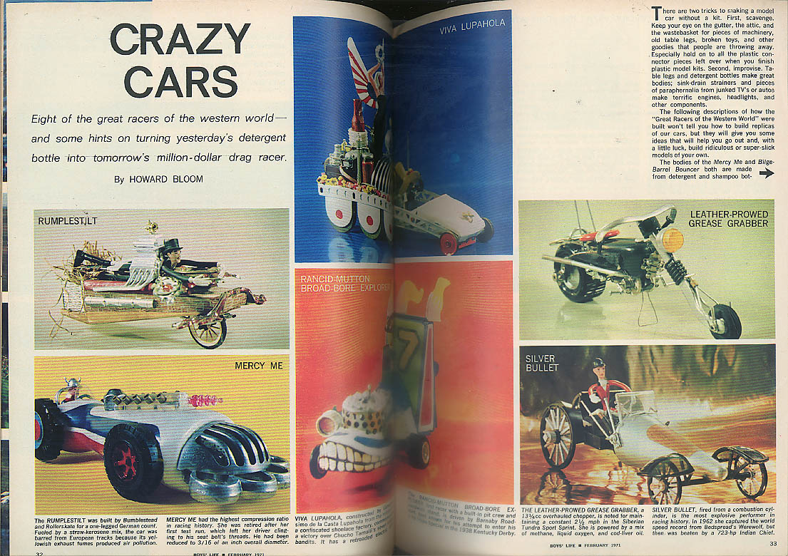 BOYS LIFE 2 1971 Explorer Olympics; crazy cars