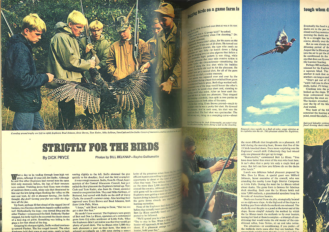 BOYS LIFE Bird hunting John Oliver Killens Schwinn Detective Bill Burns 11 1967