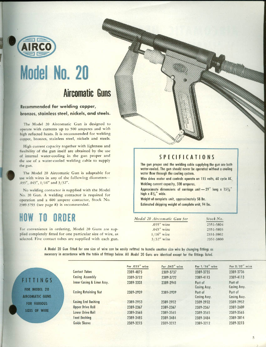 Airco Aircomatic Process Catalog 17 Air Reduction 1953