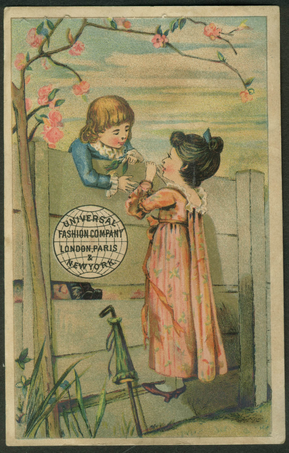 Blake & Maxson Piano Organ Westerly RI Universal Pattern trade card 1880s