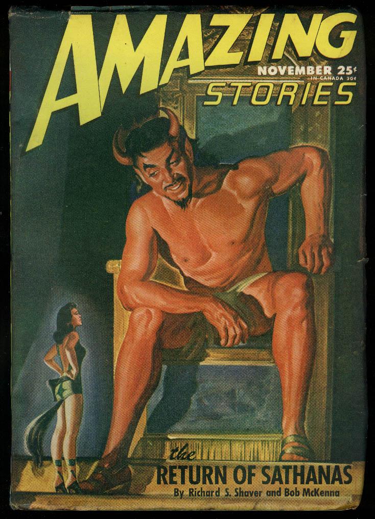 Image for AMAZING STORIES pulp Shaver & McKenna Geier Yerxa Heiner de Courcy 11 1946