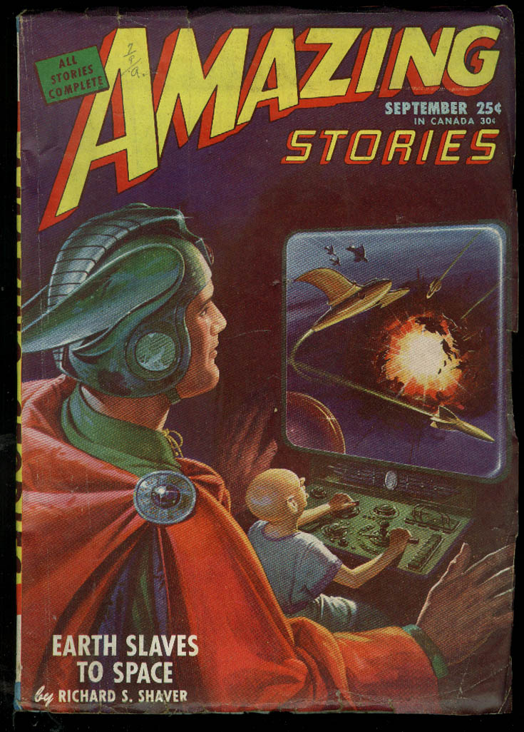AMAZING STORIES pulp Shaver Yerxa Phillips de Courcy 9 1946