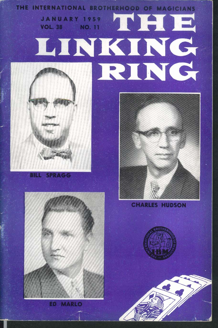 LINKING RING Bill Spragg Charles Hudson Ed Marlo 1 1959