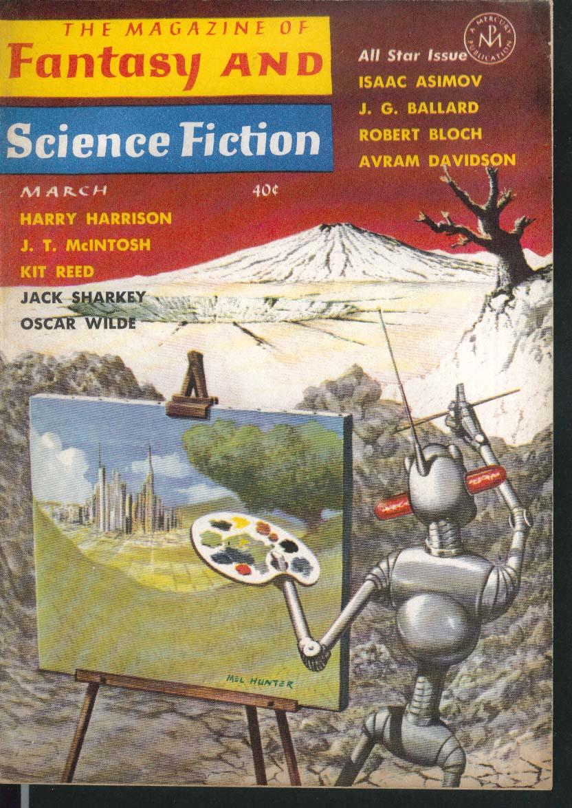FANTASY & SCIENCE FICTION Isaac Asimov Oscar Wilde Ballard Harry Harrison 3 1964