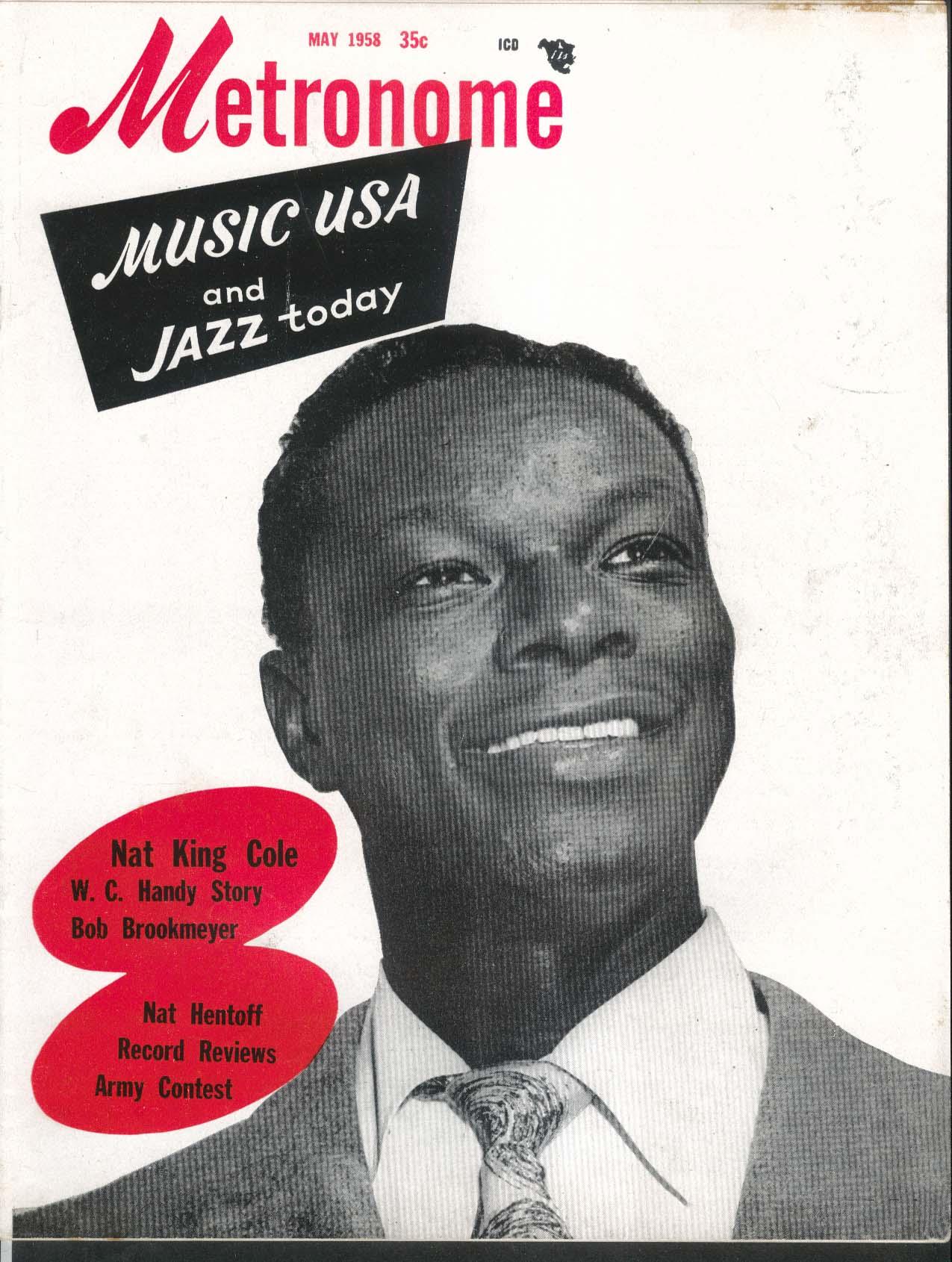 METRONOME Nat King Cole W C Handy Bob Brookmeyer Hentoff 5 1958