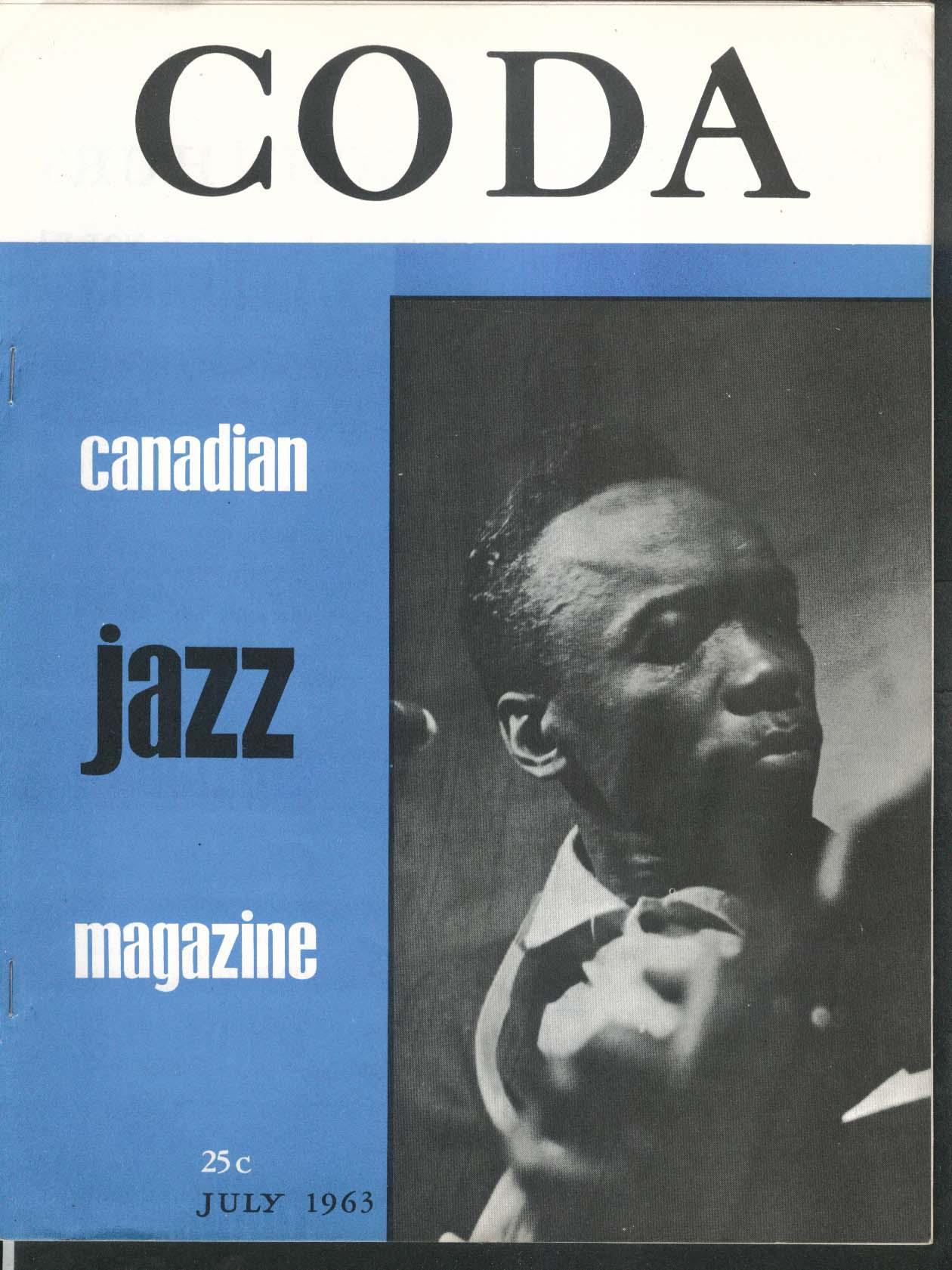 CODA V5 #12 Canadian Jazz Magazine John Lee Hooker 7 1963