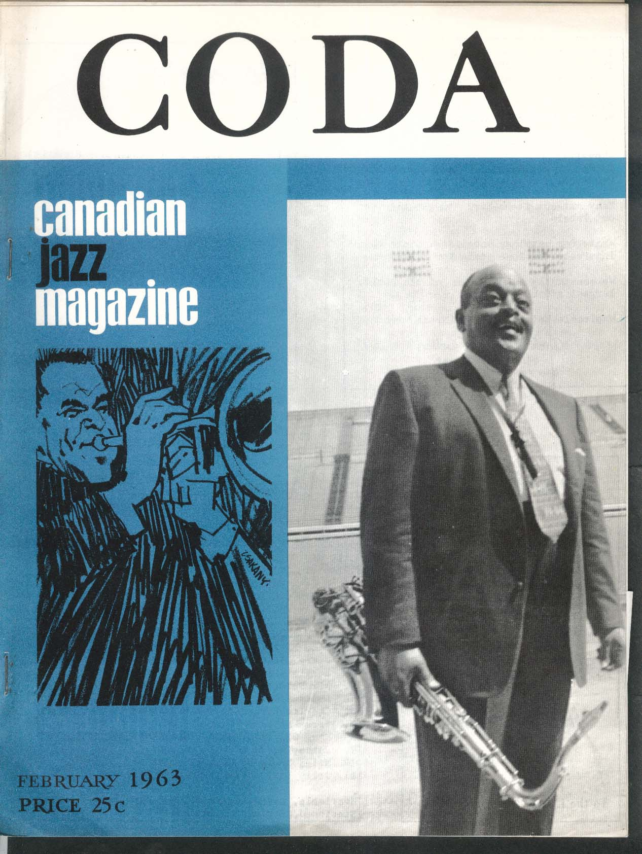 CODA V5 #7 Canadian Jazz Magazine Ben Webster 2 1963