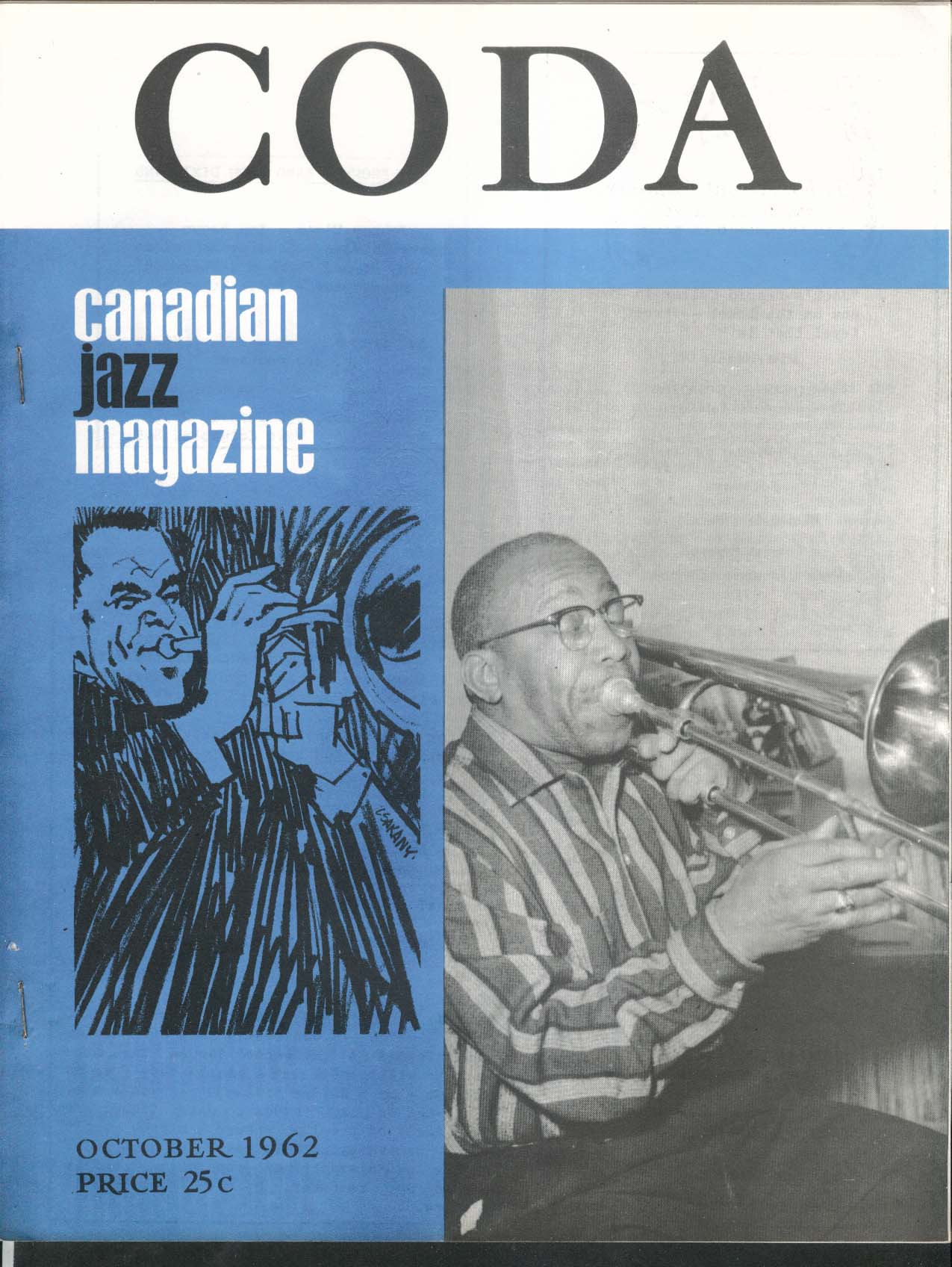 CODA V5 #3 Canadian Jazz Magazine Jimmy Archey 10 1962