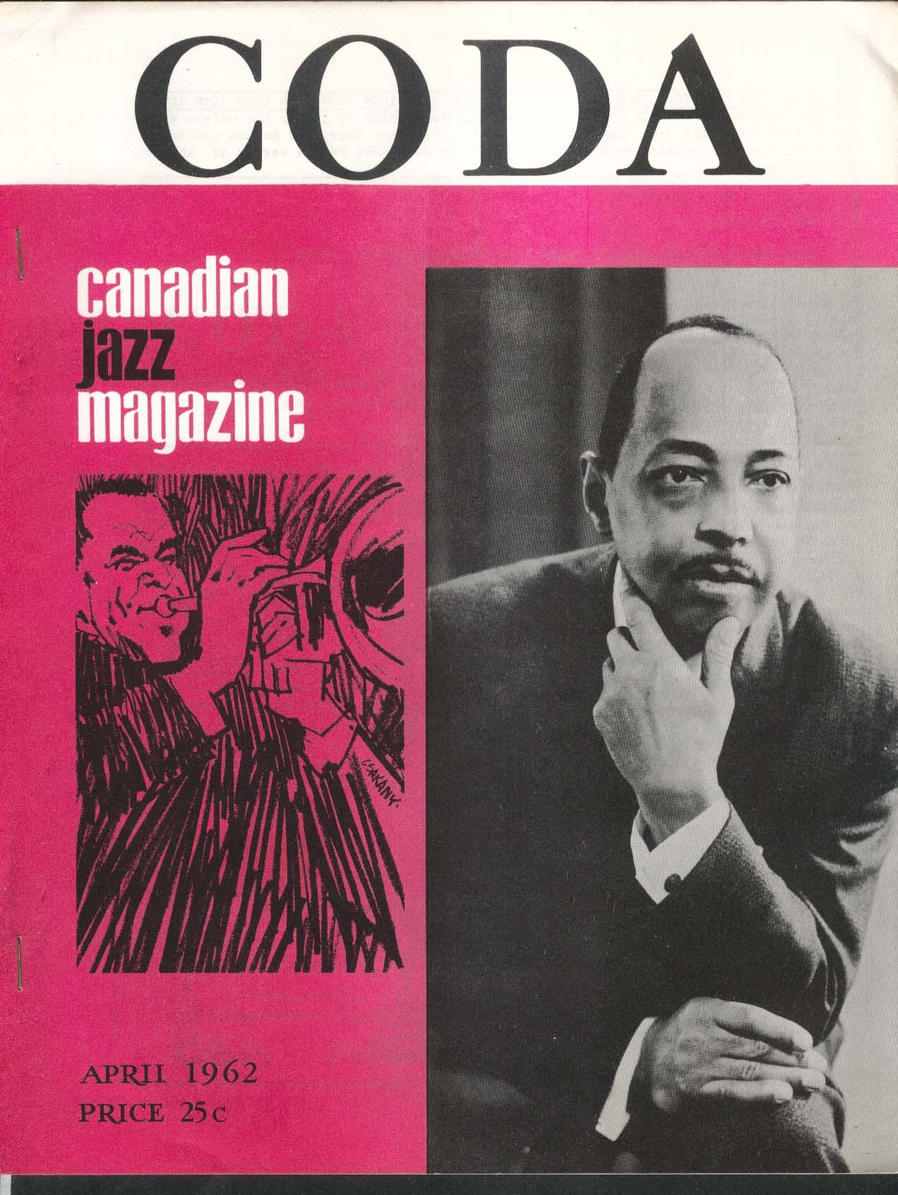 CODA V4 #9 Canadian Jazz Magazine Freddie Johnson 4 1962