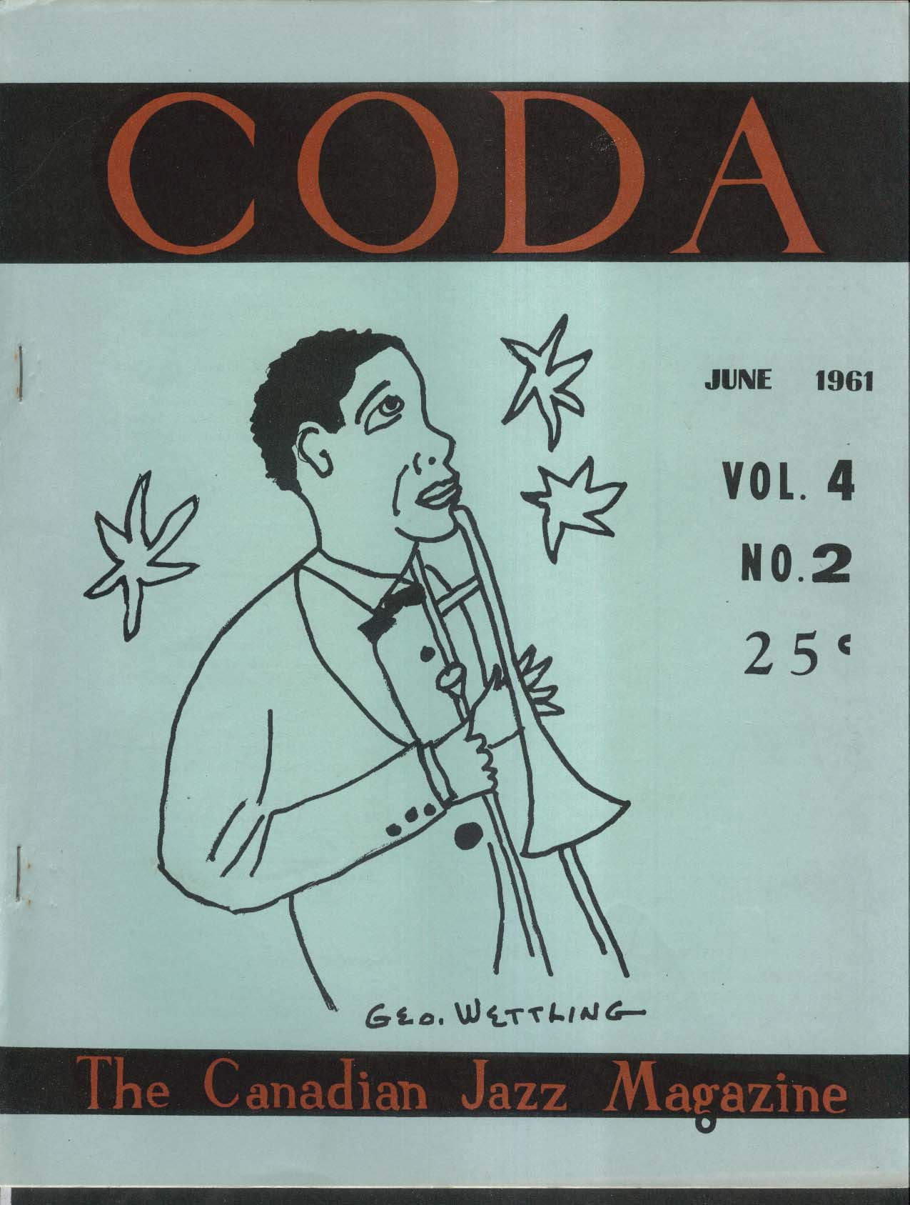 CODA V4 #2 Canadian Jazz Higginbotham Blues Charlie Mingus Sammy Price 6 1961