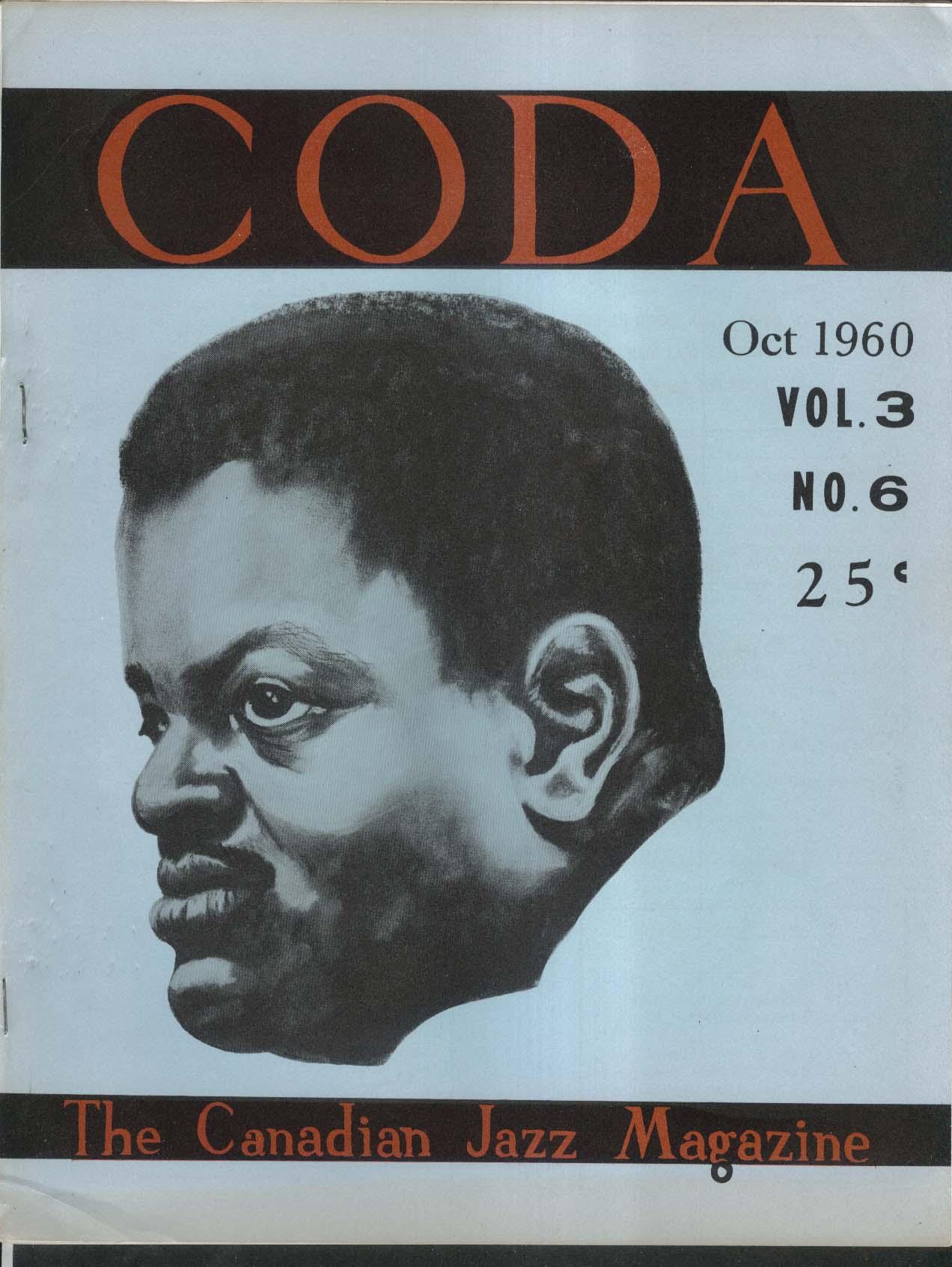 CODA V3 #6 Canadian Jazz Magazine Monterey Festival 10 1960