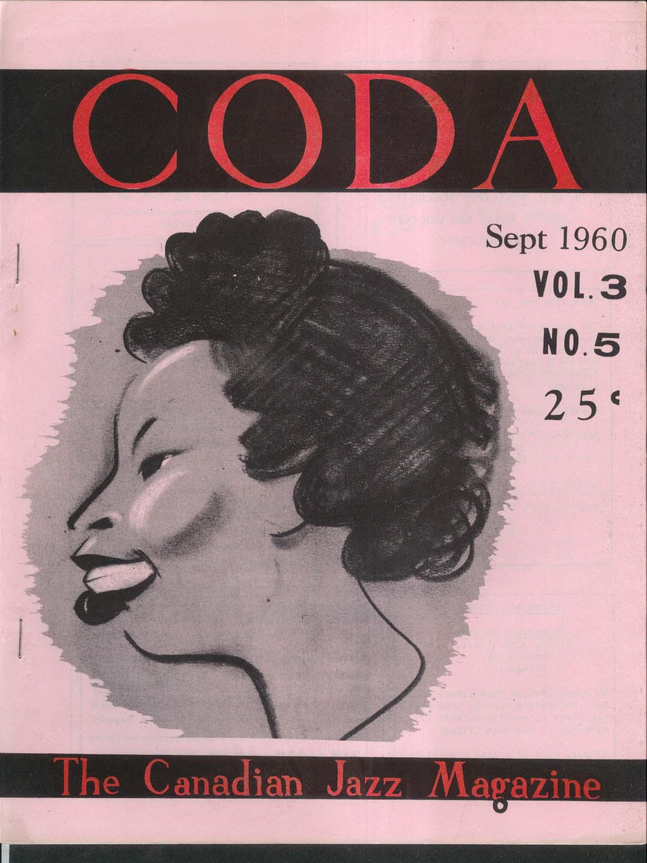 CODA V3 #5 Canadian Jazz Magazine Buffalo Festival Jackie McLean Newport 9 1960