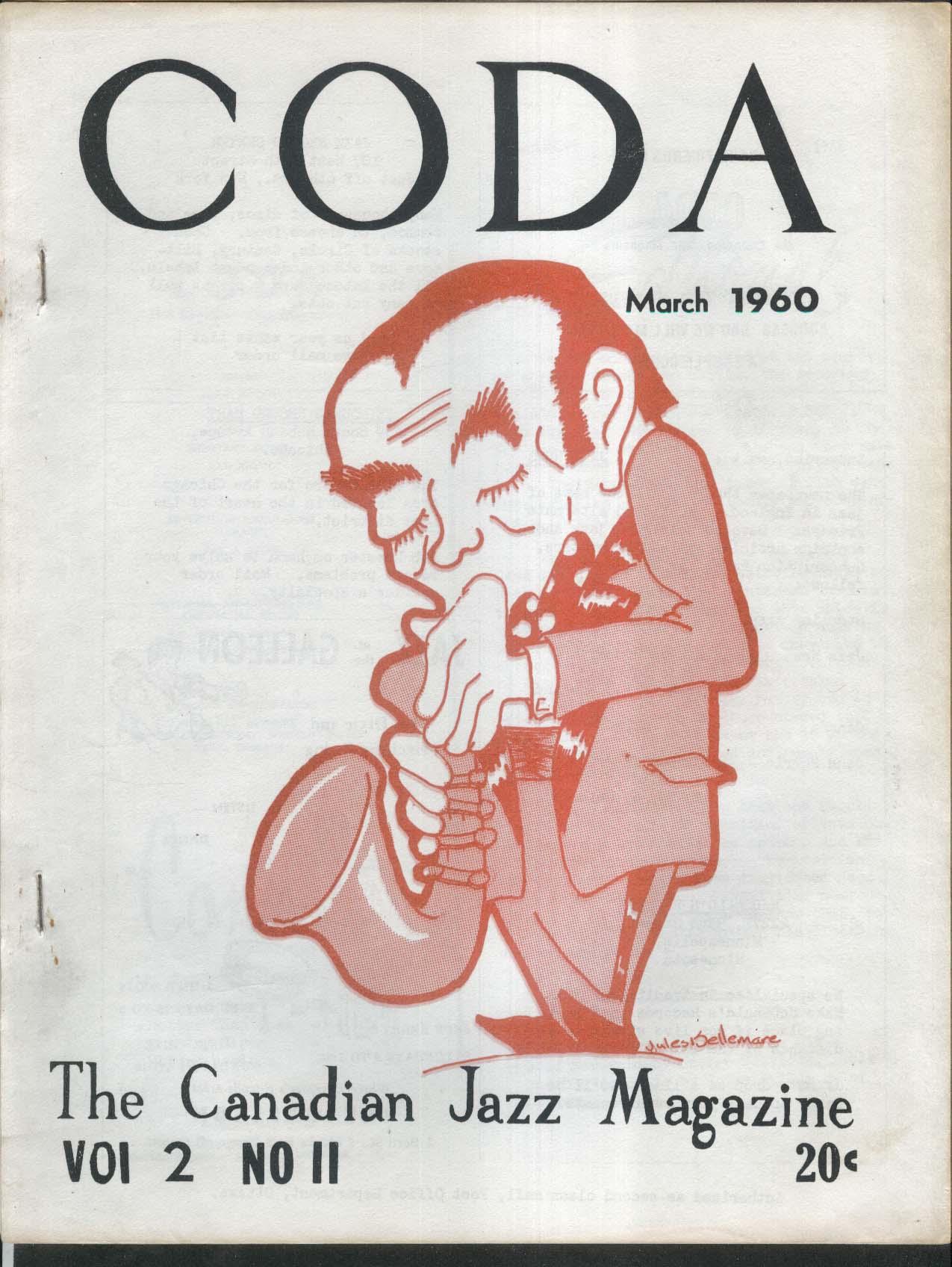 CODA V2 #11 Canadian Jazz Magazine Newport News 3 1960