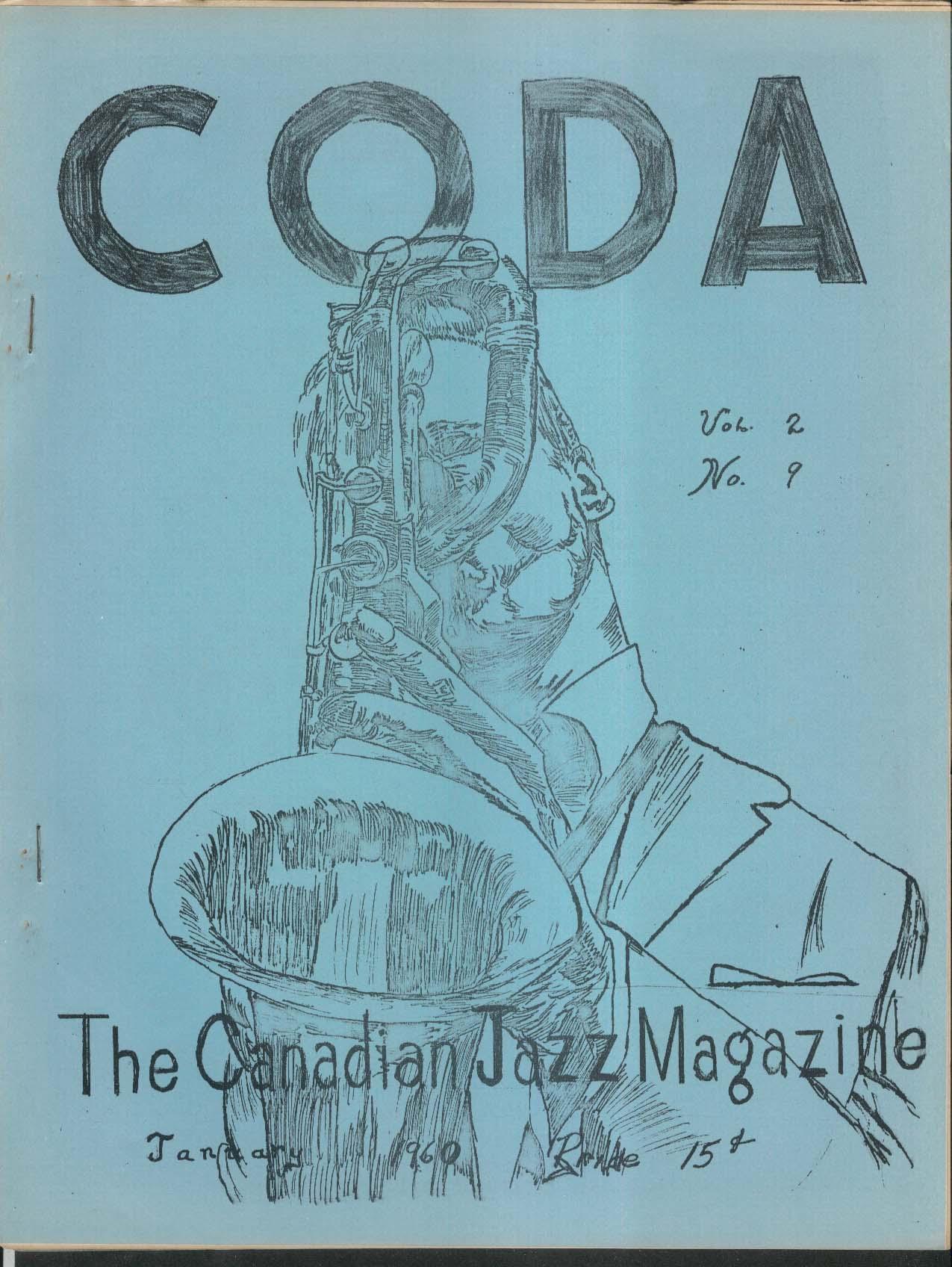 CODA V2 #9 Canadian Jazz Magazine 1 1960