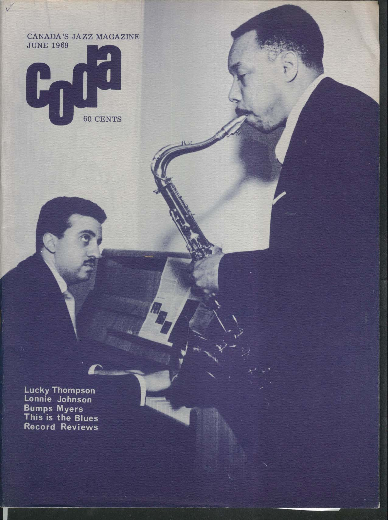 CODA Lucky Thompson Lonnie Johnson Bumps Myers 6 1969