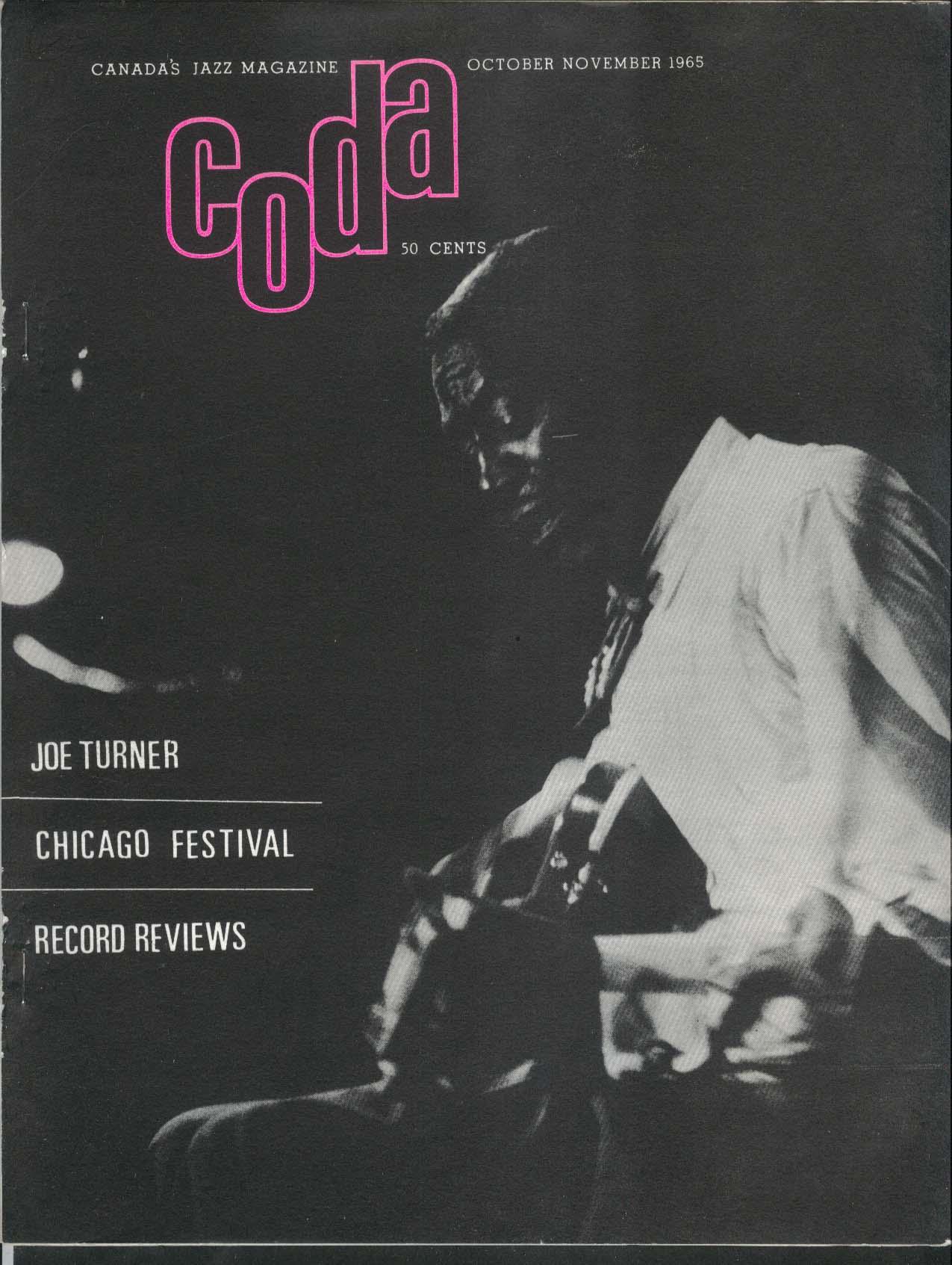 CODA Joe Turner Chicago Festival New York Jazz Happenings 10-11 1965