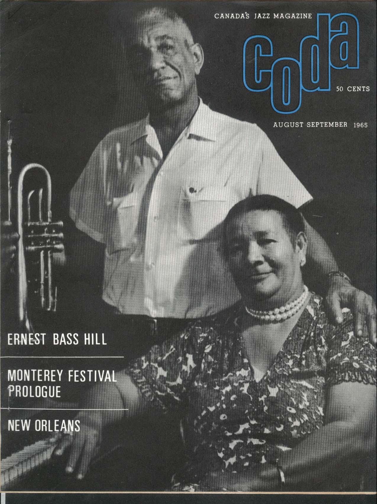 CODA Ernest Bass Hill Monterey & Newport Festival New Orleans 8-9 1965