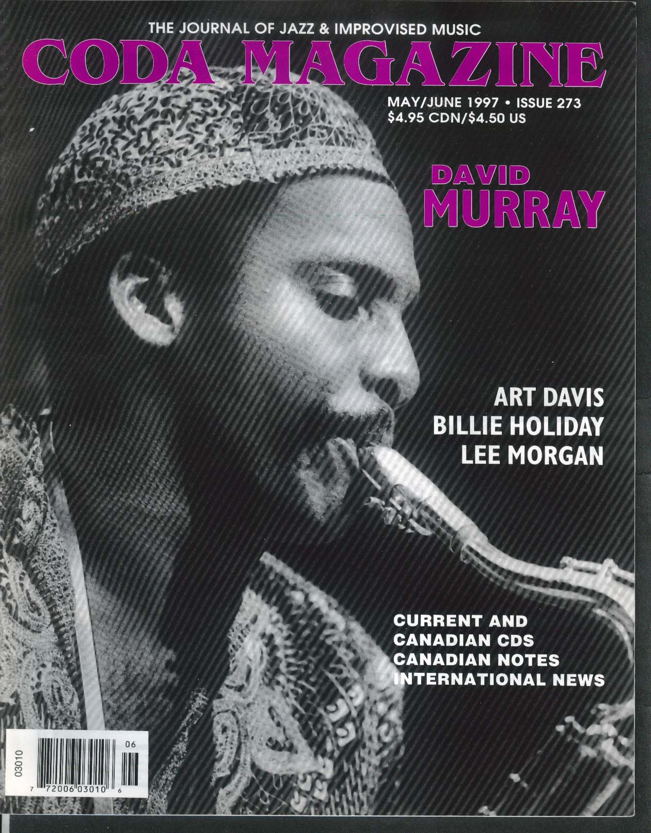 CODA #273 David Murray Art Davis Billie Holiday Lee Morgan 5-6 1997