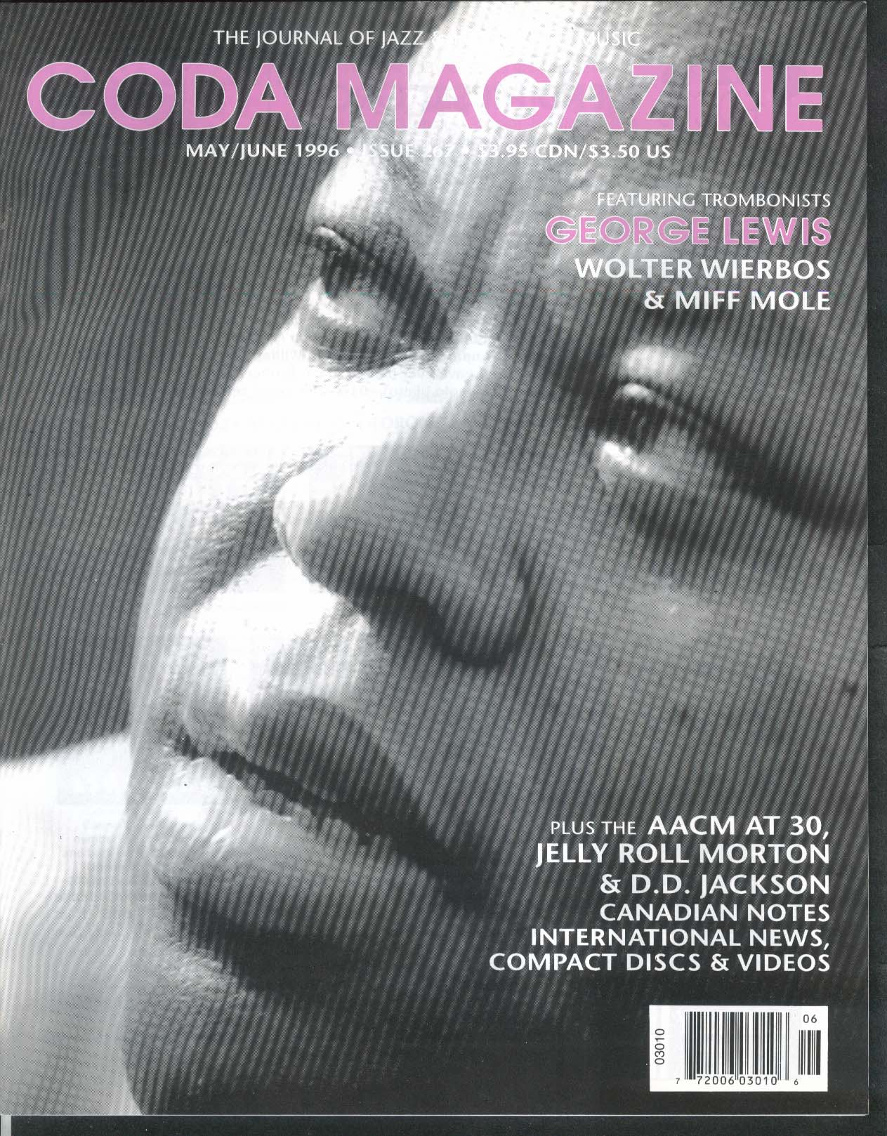 CODA #267 George Lewis Wolter Wierbos Miff Mole Jelly Roll Morton + 5-6 1996