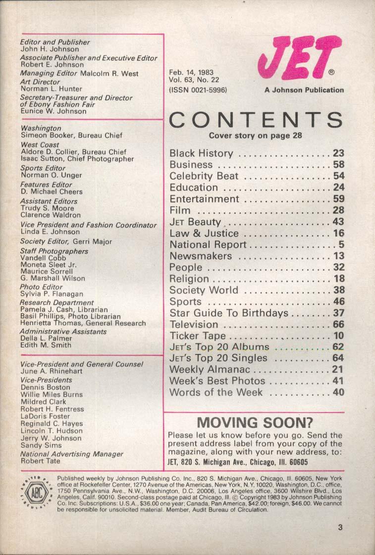 JET Eddie Murphy Nick Nolte Eldridge Cleaver 2/14 1983