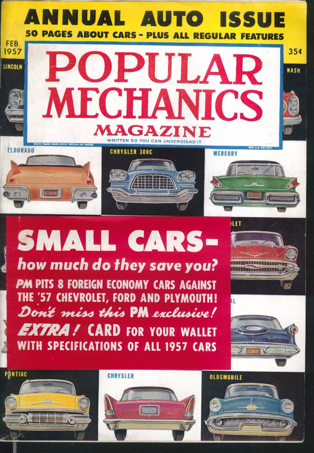 POPULAR MECHANICS Lincoln Nash Eldorado Chrysler 300C Mercury Oldsmobile 2 1957