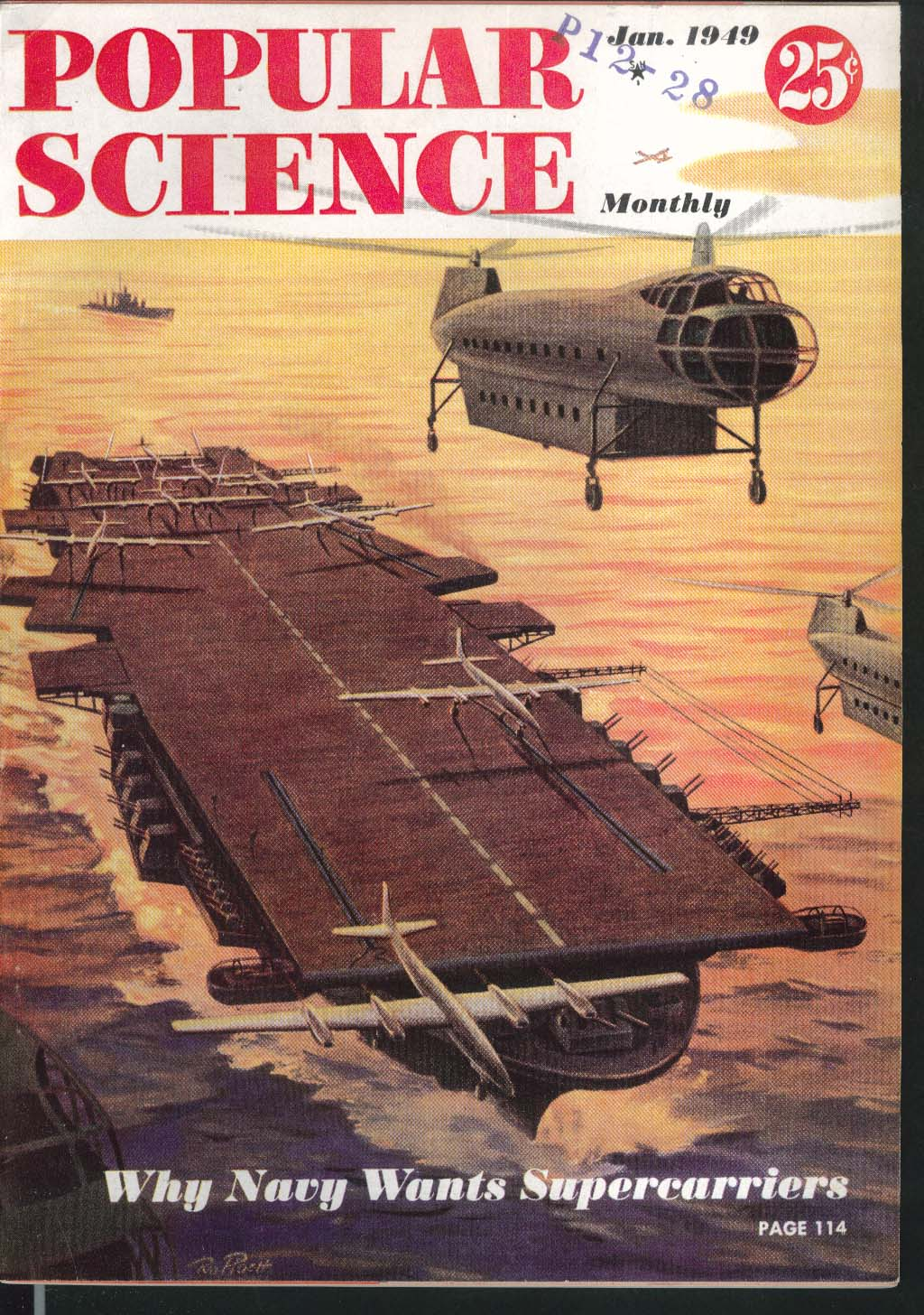 POPULAR SCIENCE Navy Supercarriers Cadillac Ultrafax Ramjets 1 1949
