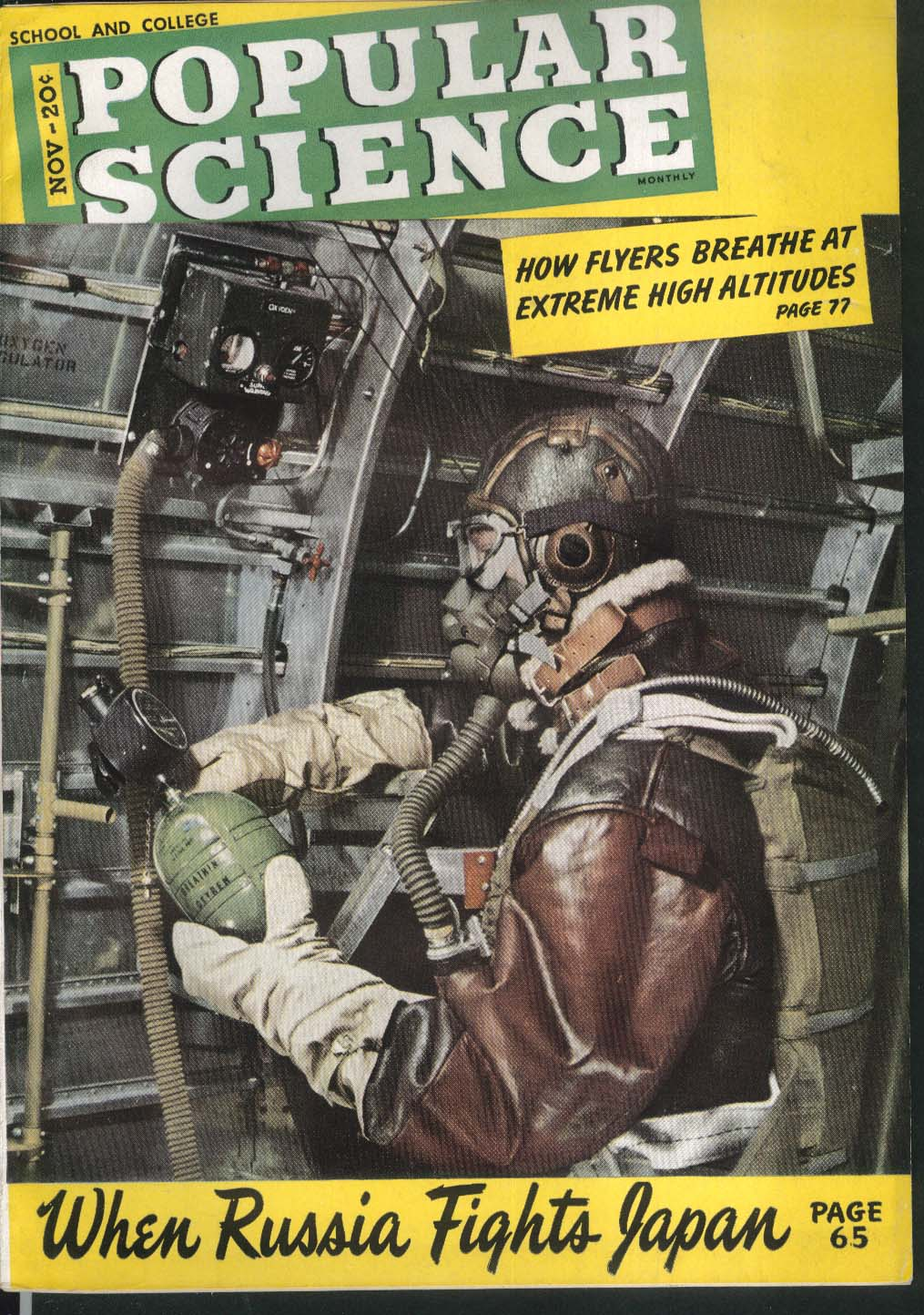 POPULAR SCIENCE Pre-Flight Aeronautics Fundamentals Russia vs Japan 11 1943