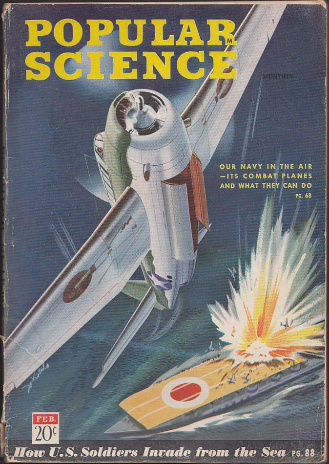 POPULAR SCIENCE Pentagon Navy Plane Identification Poison Gas Detection 2 1943