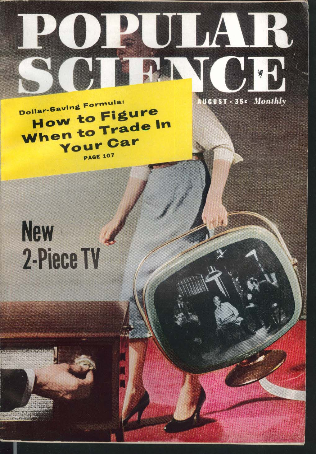 POPULAR SCIENCE Atlas Blockhouse Speedboat Lightning Rod Man in Space 8 1958