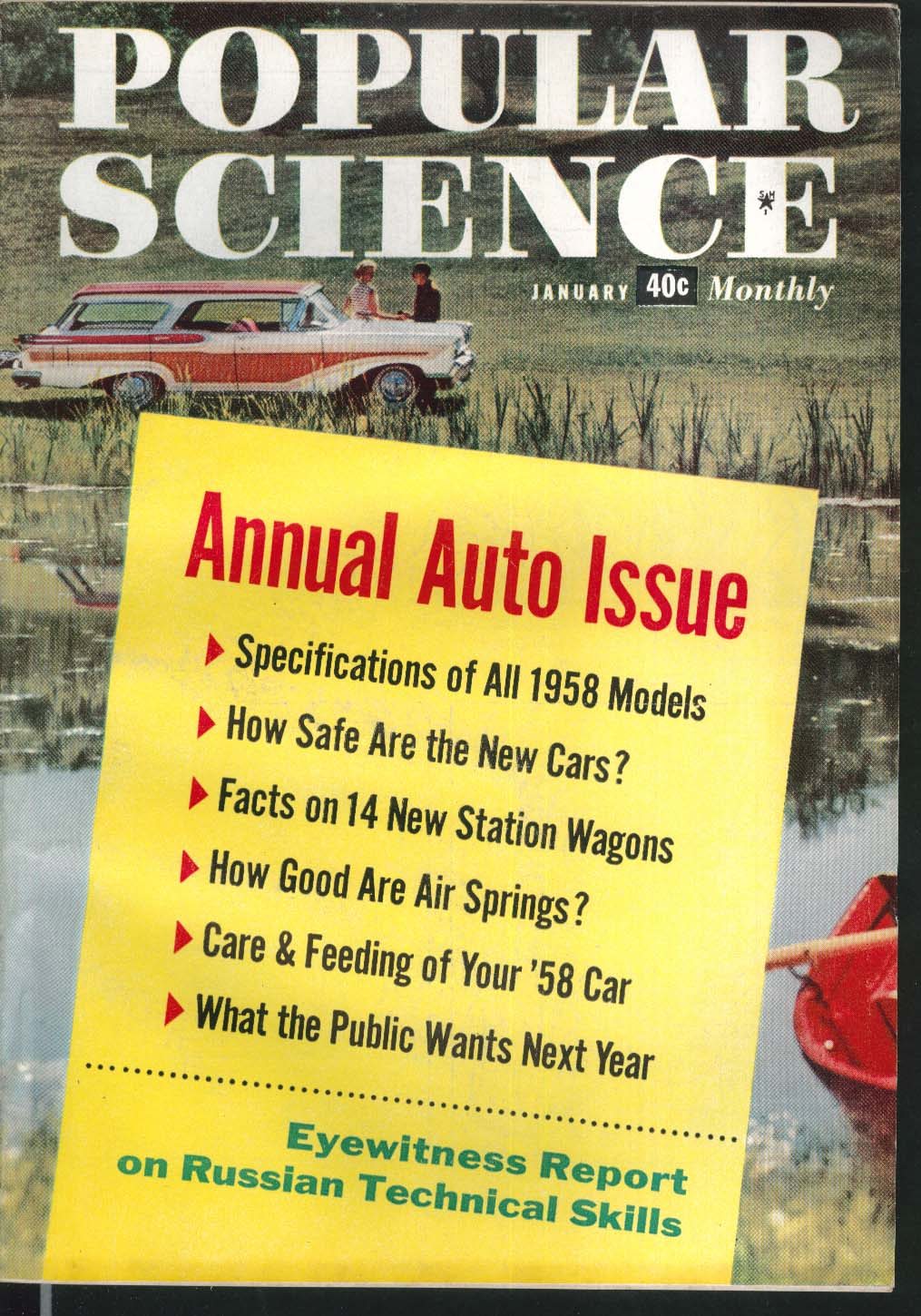 POPULAR SCIENCE Pontiac Chevrolet Oldsmobile Station Wagon Delta Dagger 1 1958