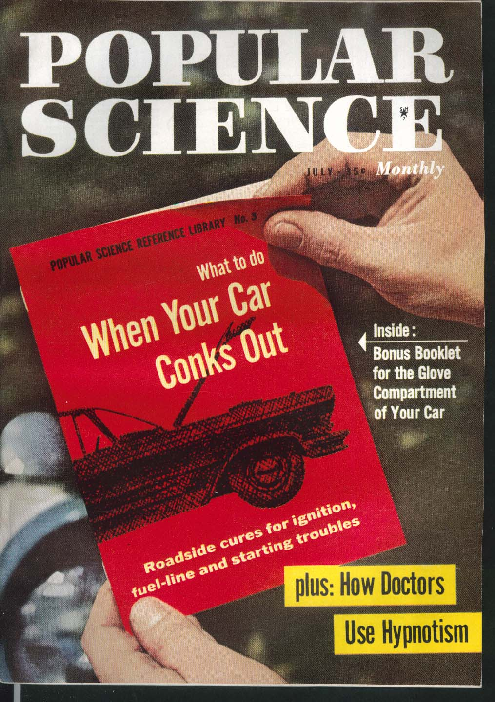 POPULAR SCIENCE Chevrolet Hypnotism Glove Compartment Booklet 7 1957