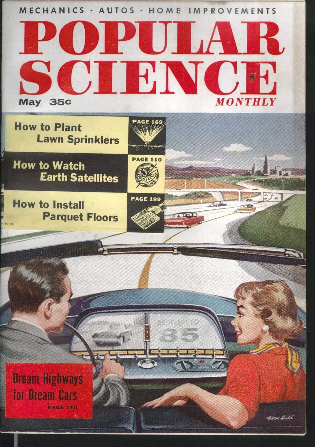 POPULAR SCIENCE Space City Planning Gasoline Monorail Gas Turbine Atomic 5 1956