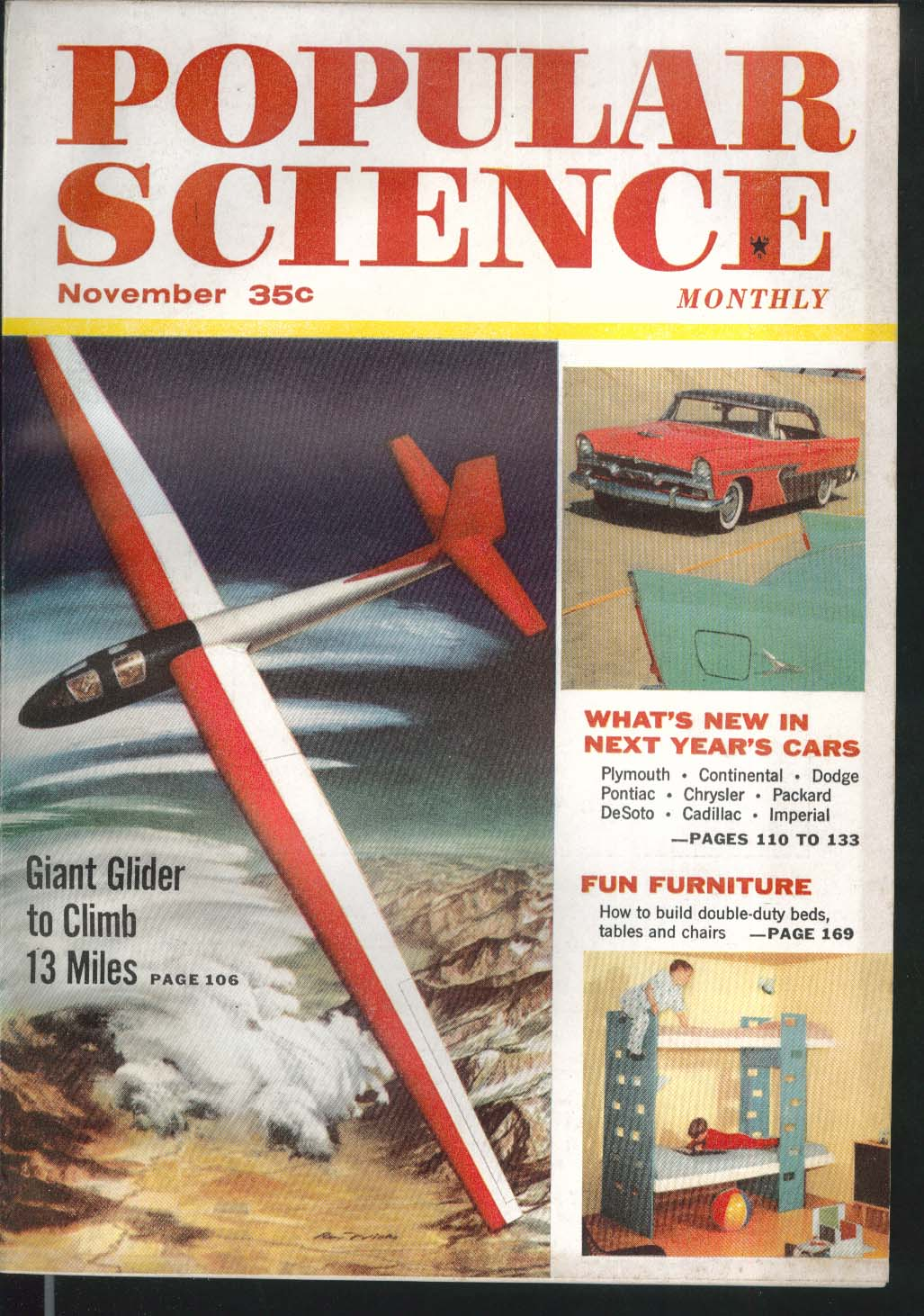 POPULAR SCIENCE 1956 Plymouth Continental Dodge Pontiac Chrysler Packard 11 1955