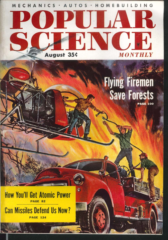 POPULAR SCIENCE Atomic Power Missile Defense Detroit V-6 8 1955