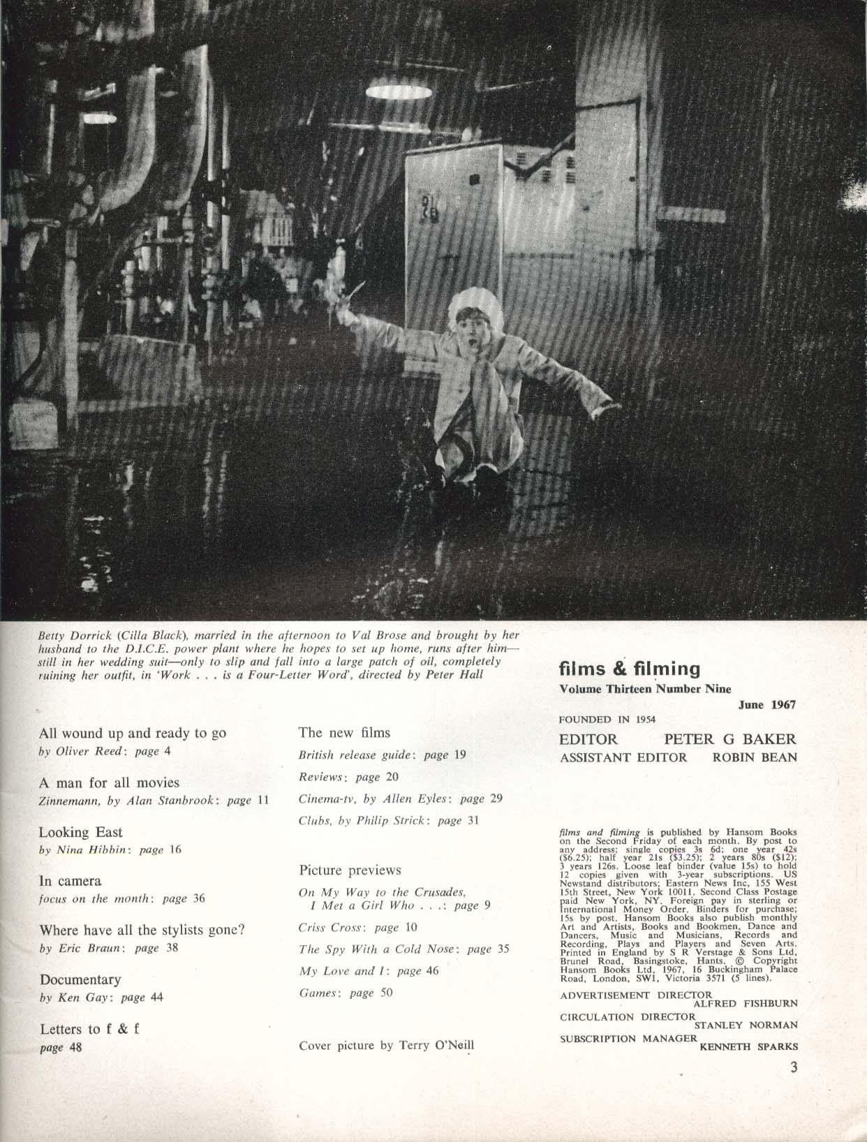 FILMS & FILMING Paul Jones Jean Shrimpton Oliver Reed Fred Zinnemann 6 1967
