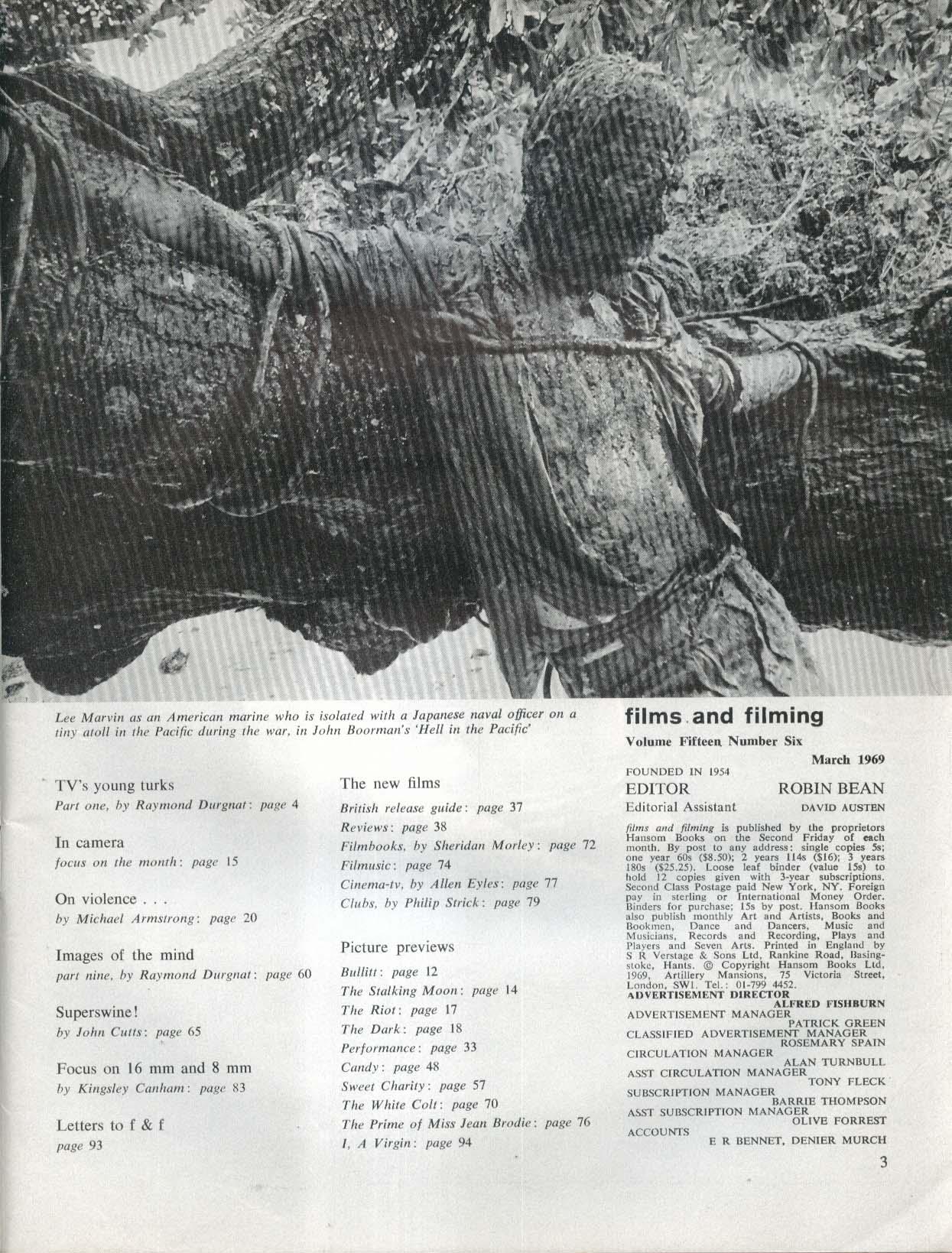 FILMS & FILMING Performance James Fox Brando Bonnie Clyde Wild Angels + 3 1969