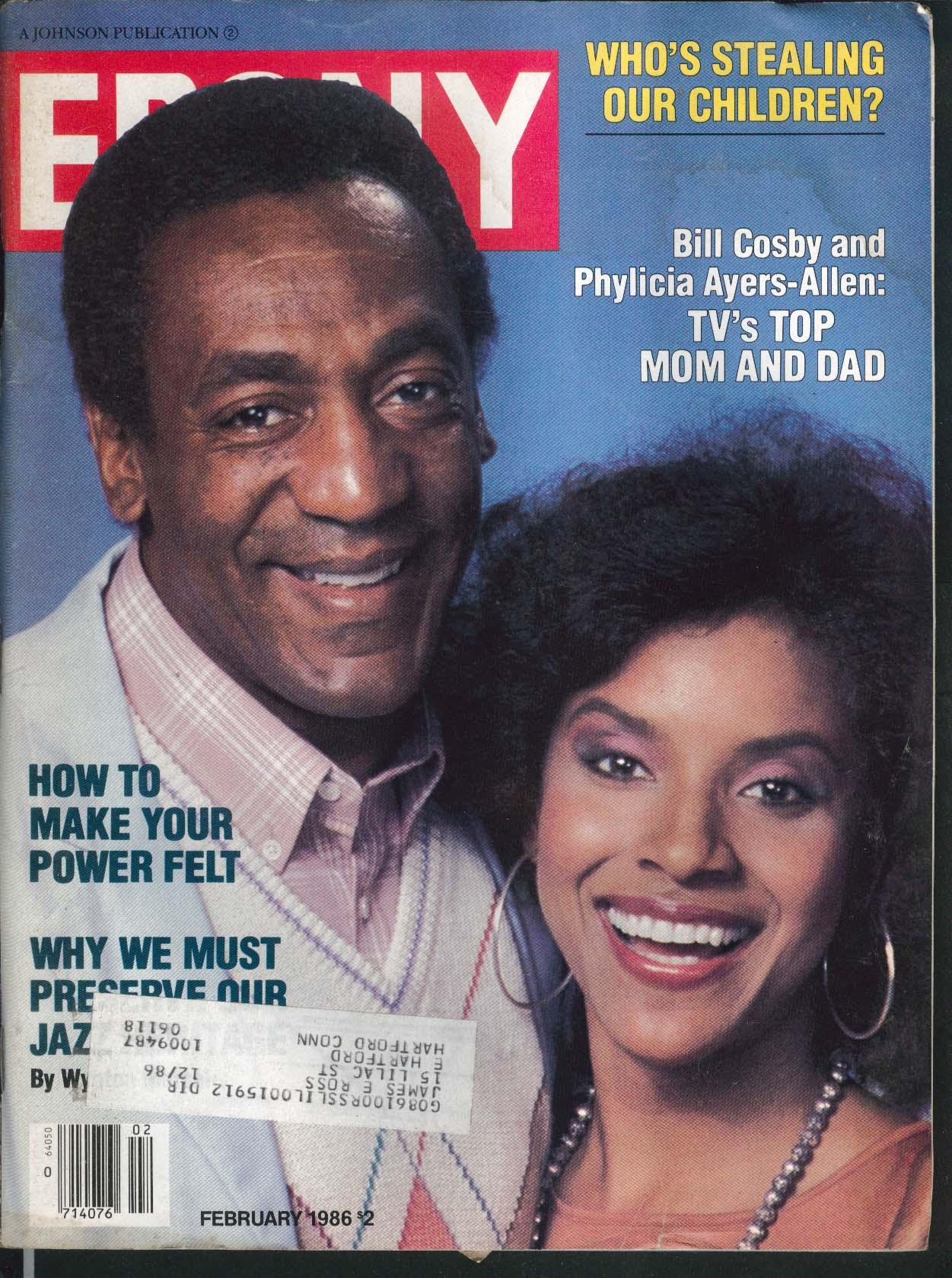 EBONY Bill Cosby Phylicia Ayers-Allen Dr Manford Byrd Jr Patrick Ewing 2 1986