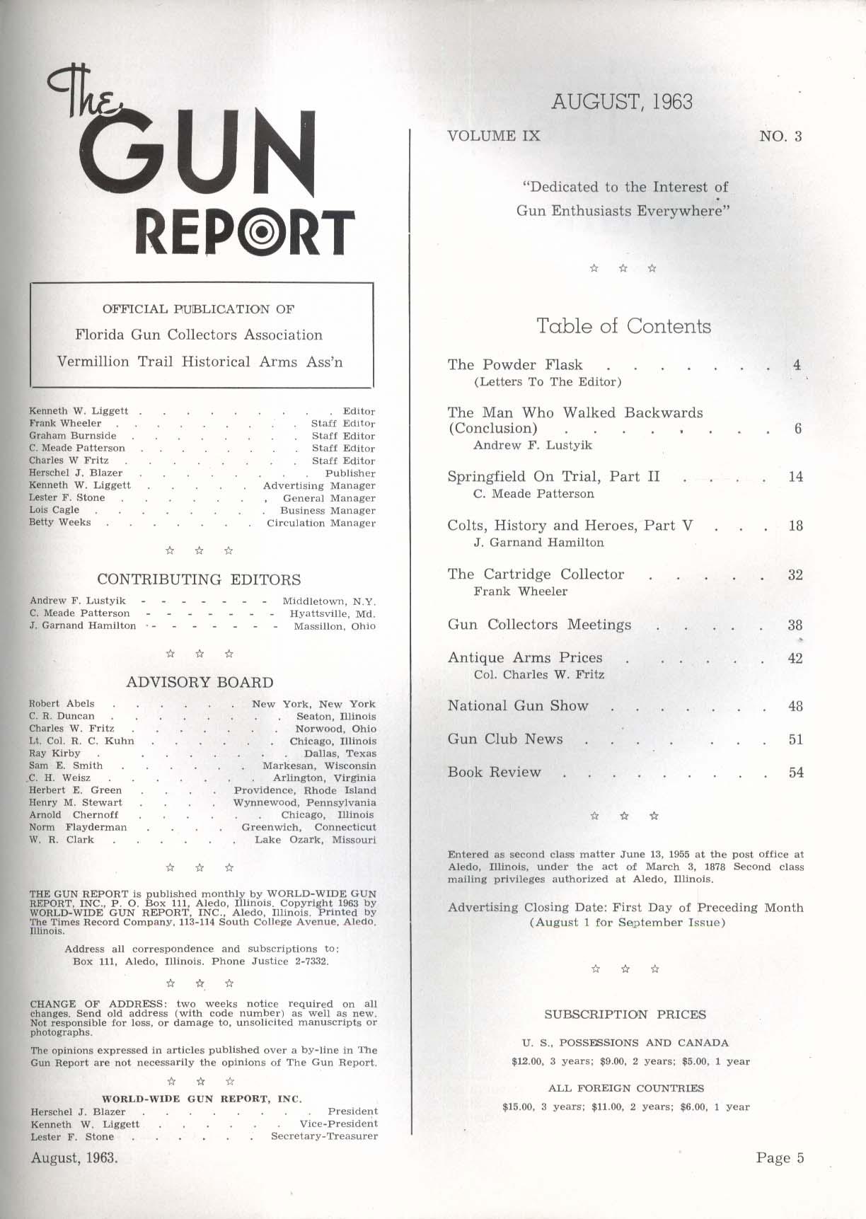 GUN REPORT Stonewall Jackson Andrew Lustyik Austrian Rifle Springfield 8 1963