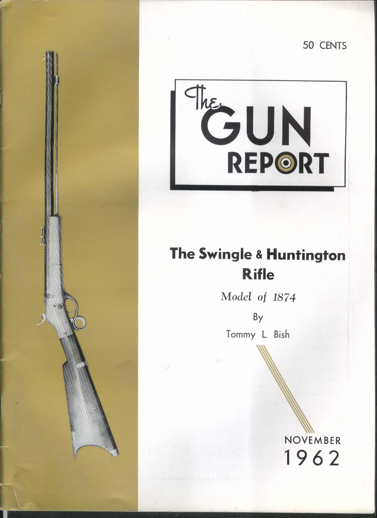 GUN REPORT Swingle & Huntington Rifle 1874 Remington Maxim .45 101 Colt 11 1962