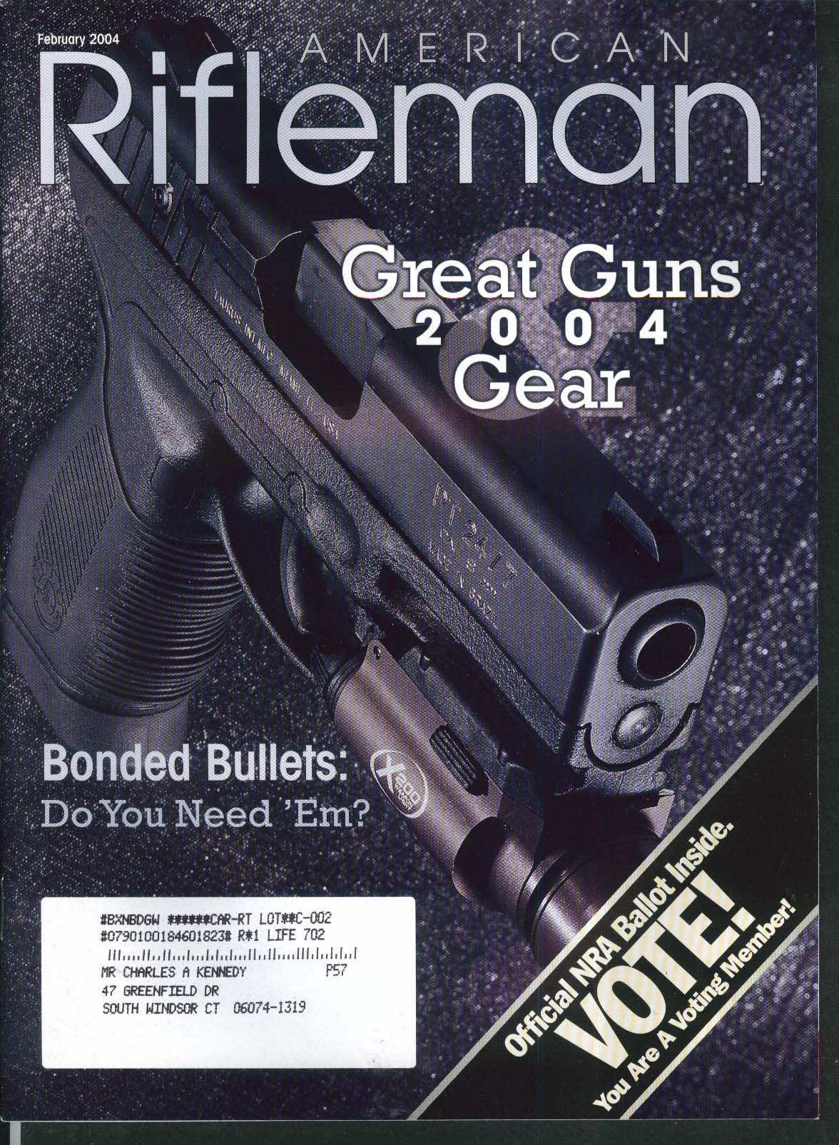 AMERICAN RIFLEMAN Remington-Lee Tim Murphy Savage 411 Winchester Model 12 2 2004