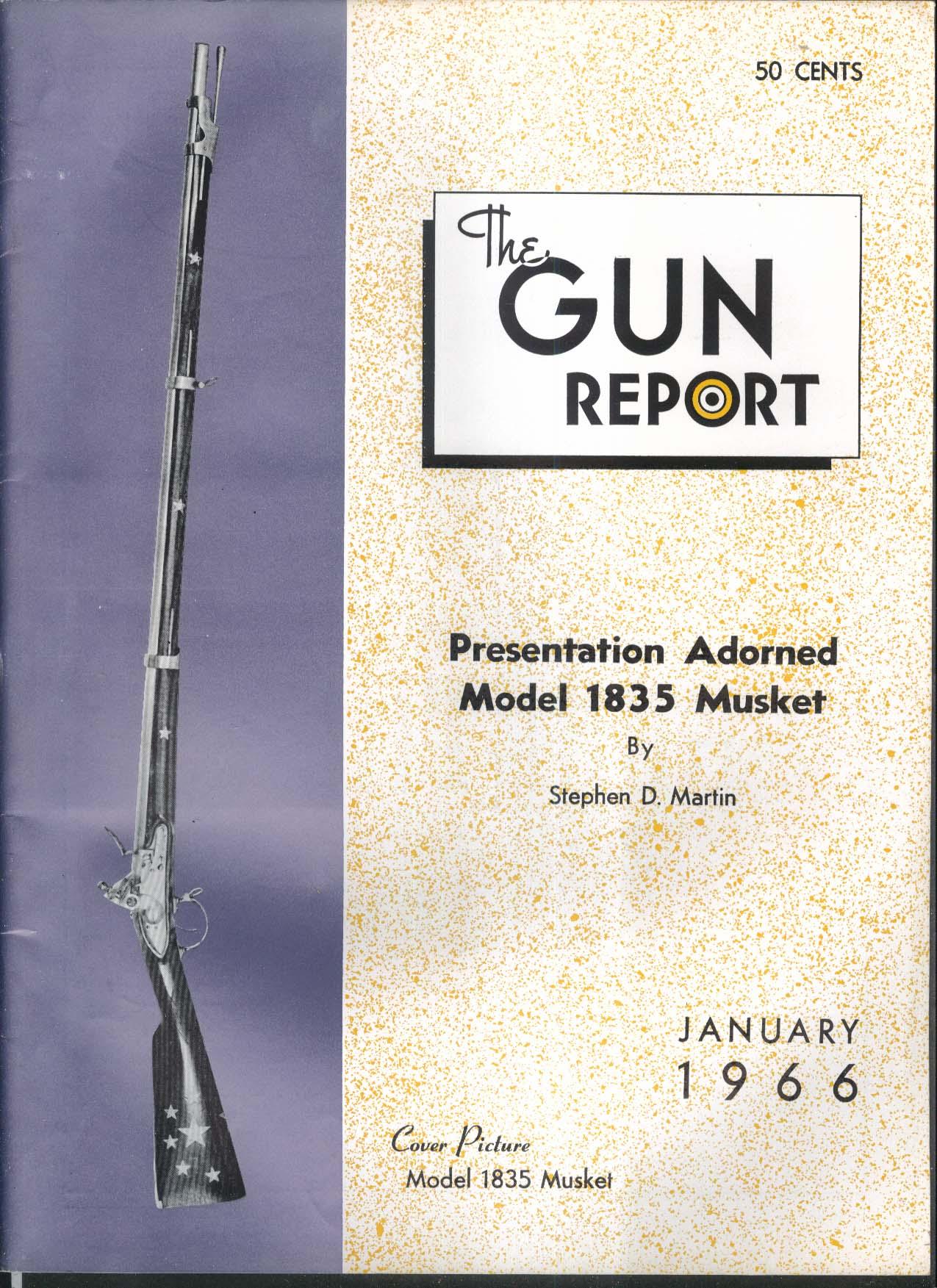 GUN REPORT Model 1835 Musket Carrington Rifle Colt Derringer Army Navy 1 1966