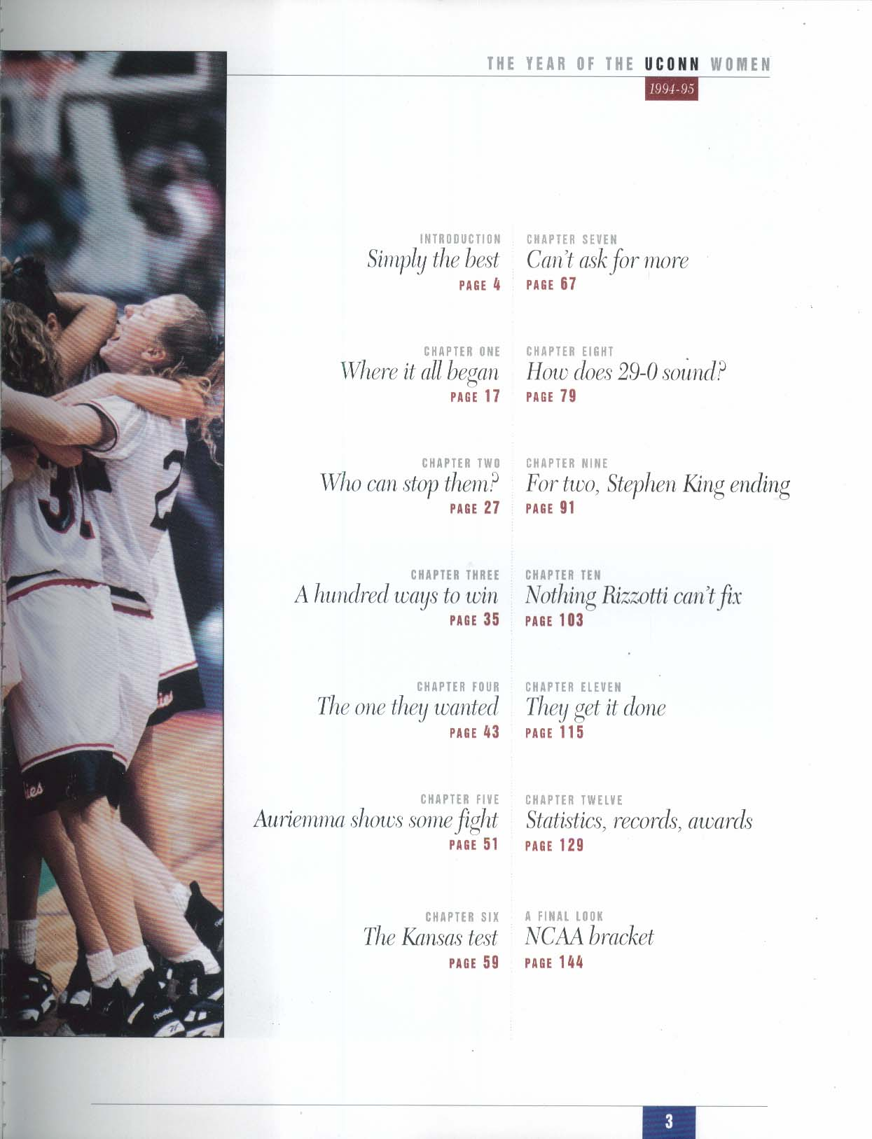 Hartford Courant UConn Championship Season 1994-1995 Rizzotti Auriemma NCAA